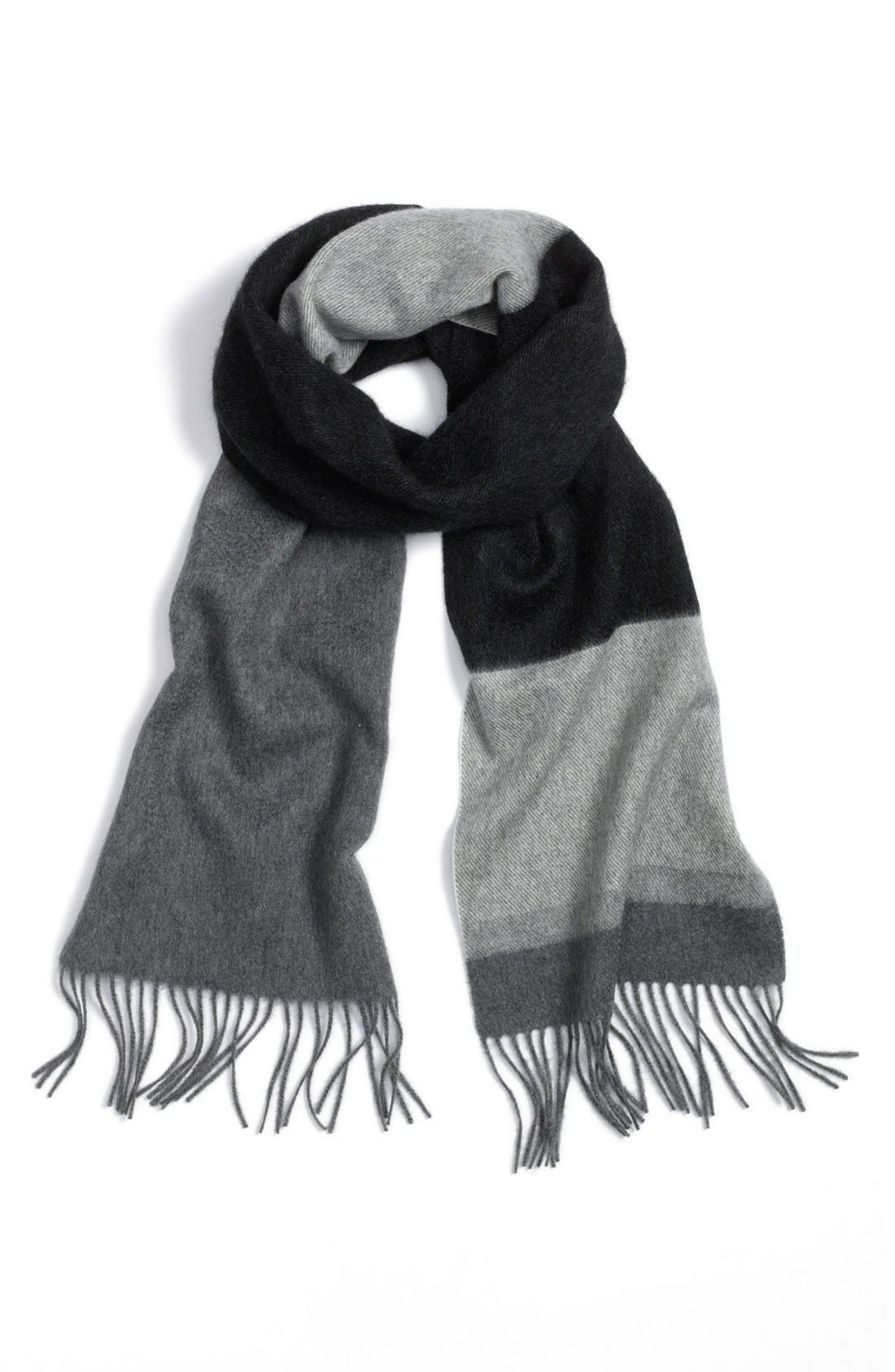 Main Image - Nordstrom Colorblock Woven Cashmere Scarf