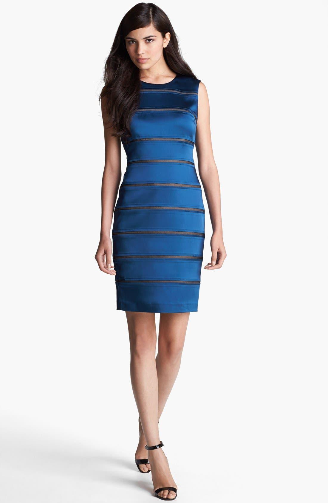 Main Image - Ivy & Blu Banded Satin Sheath Dress