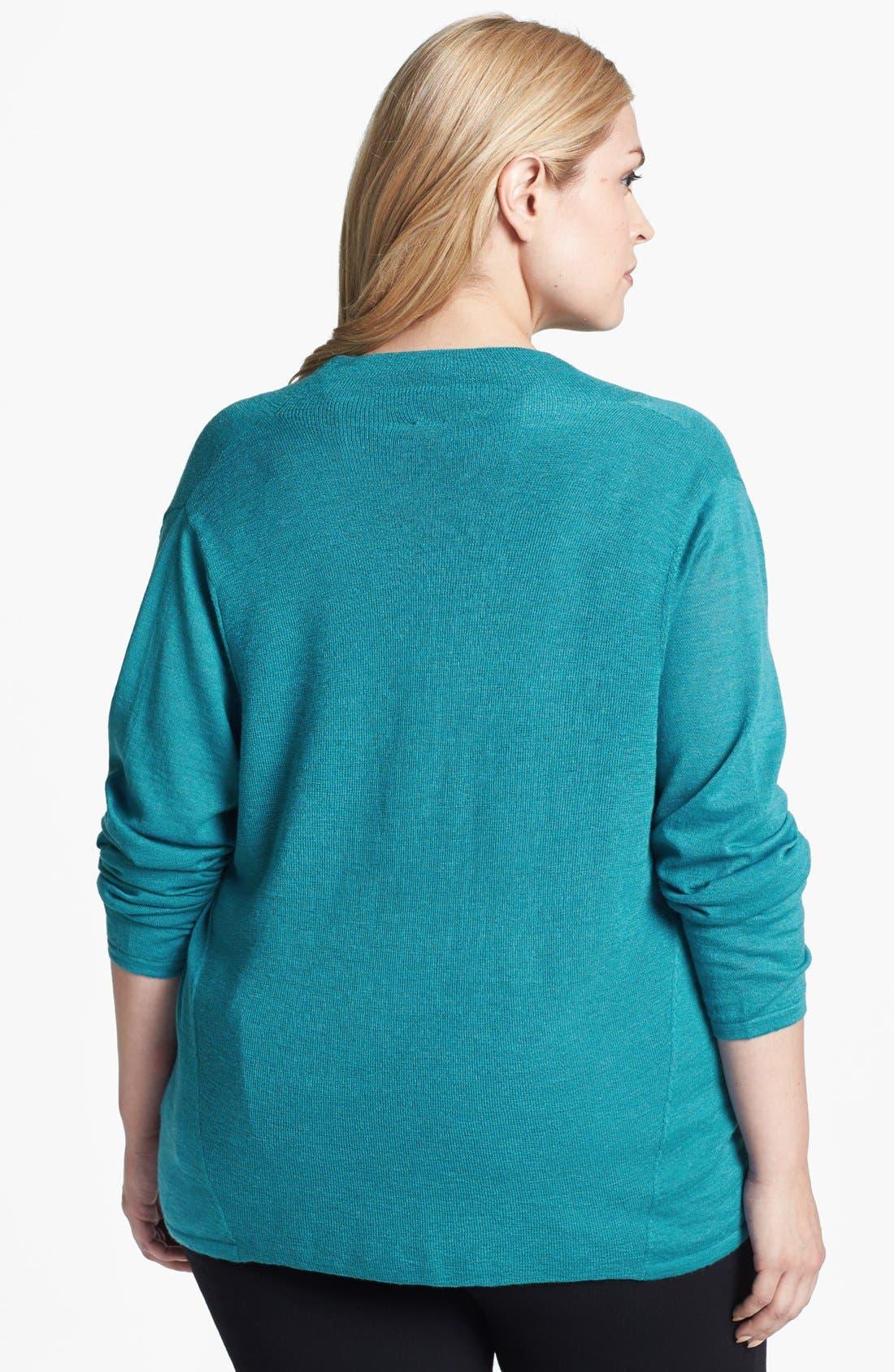 Alternate Image 2  - Eileen Fisher Draped Wool Top (Plus Size)