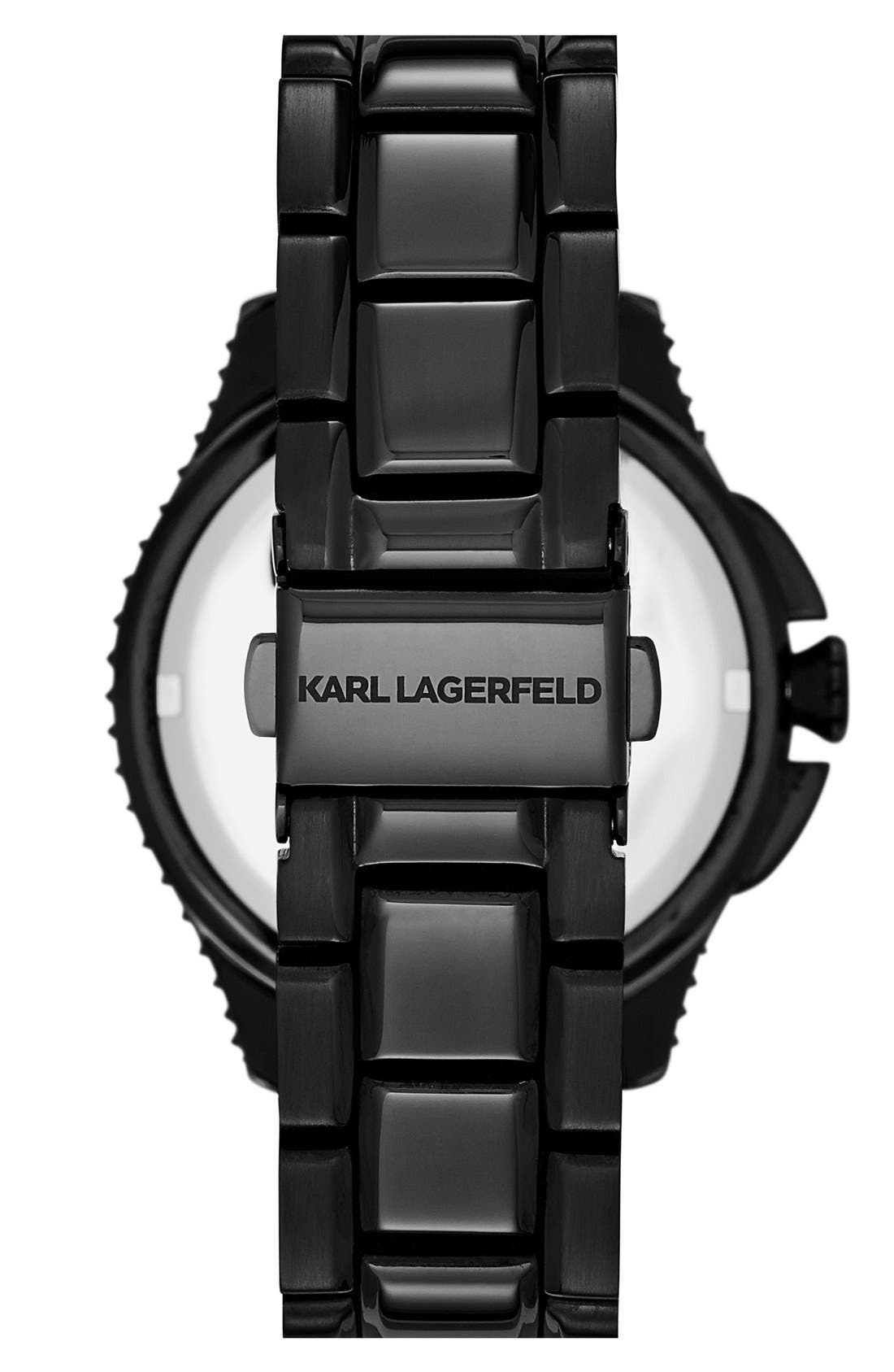 Alternate Image 2  - KARL LAGERFELD '7' Bracelet Watch, 39mm
