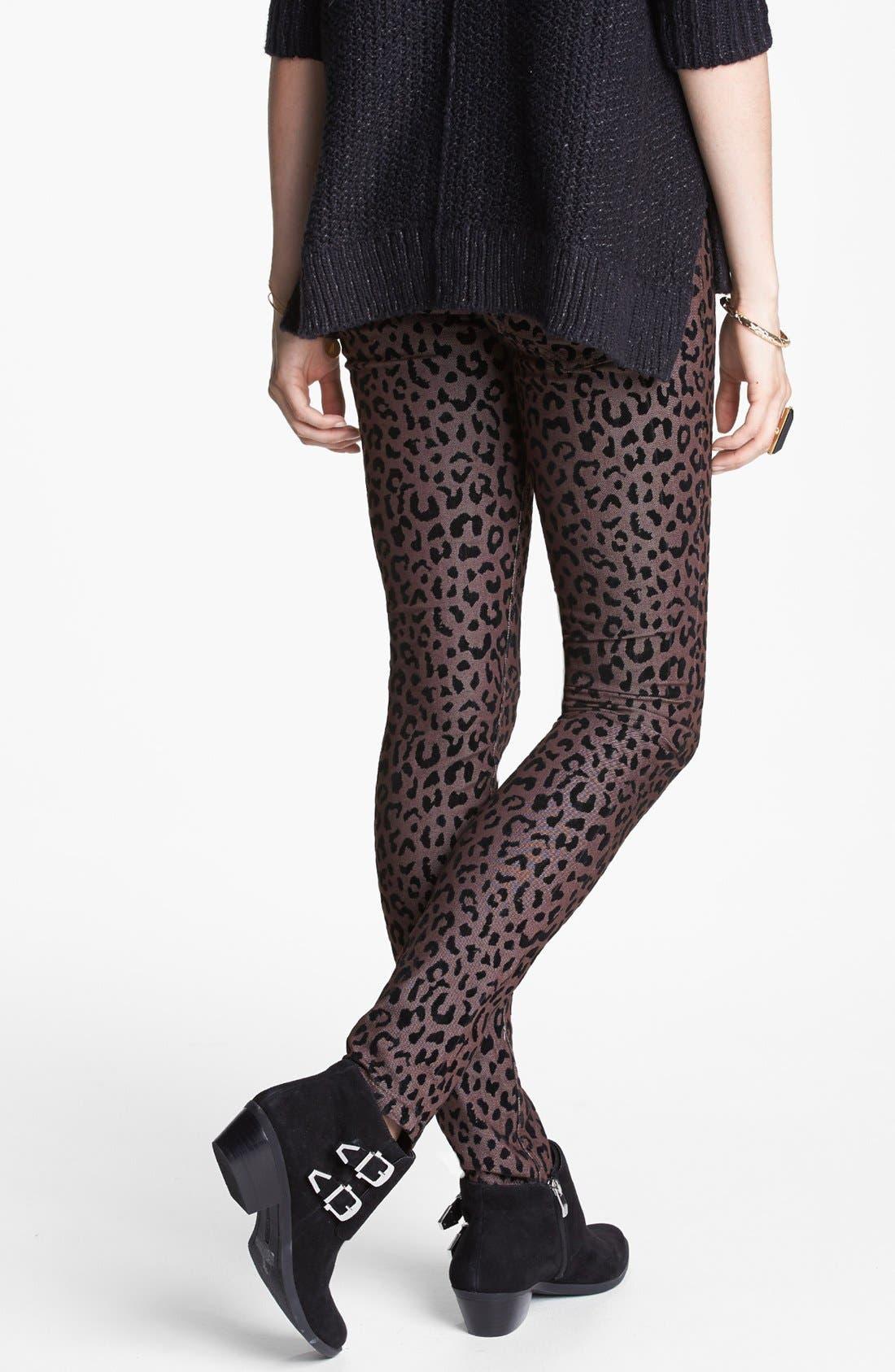 Alternate Image 2  - Free People Leopard Flocked Ankle Pants
