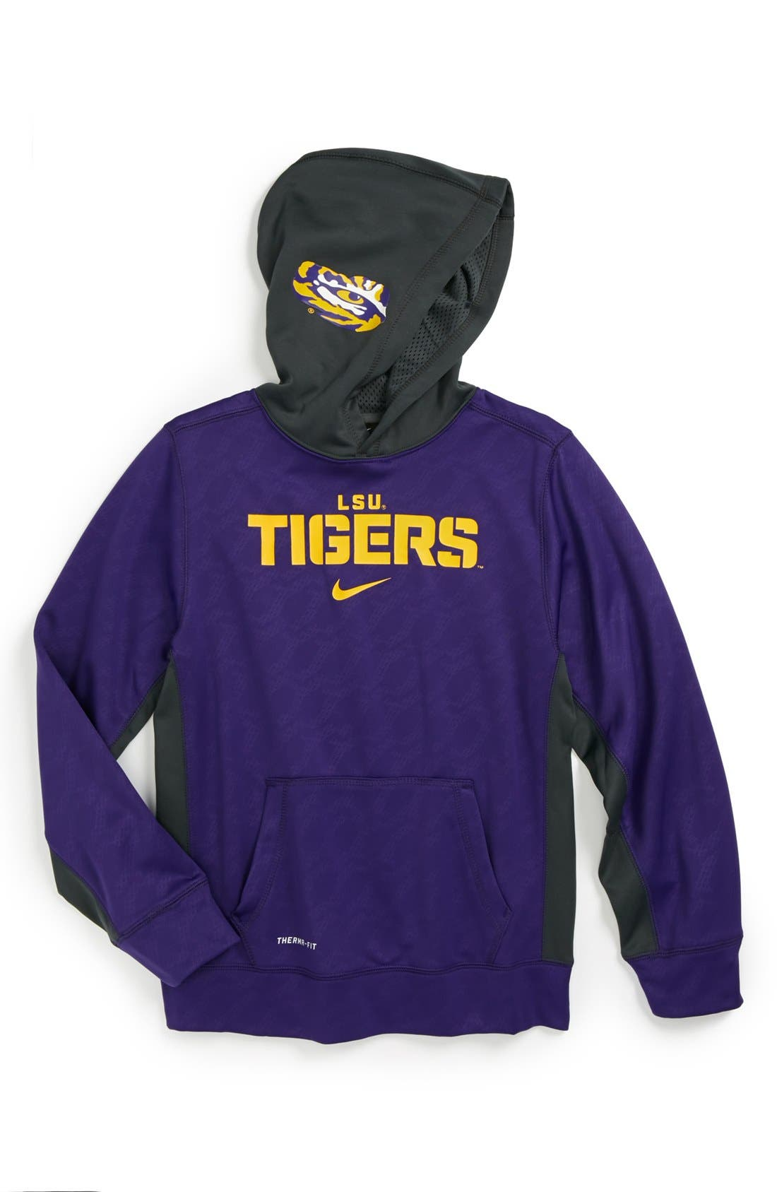Alternate Image 1 Selected - Nike 'LSU Tigers' Therma-FIT Pullover Hoodie (Big Boys)