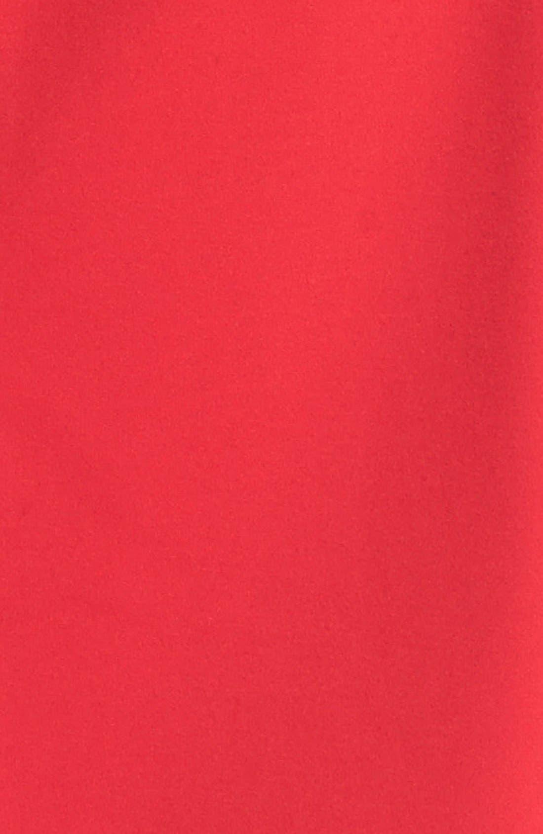 Alternate Image 2  - Calvin Klein Faux Leather Trim Ponte Sheath Dress (Petite)