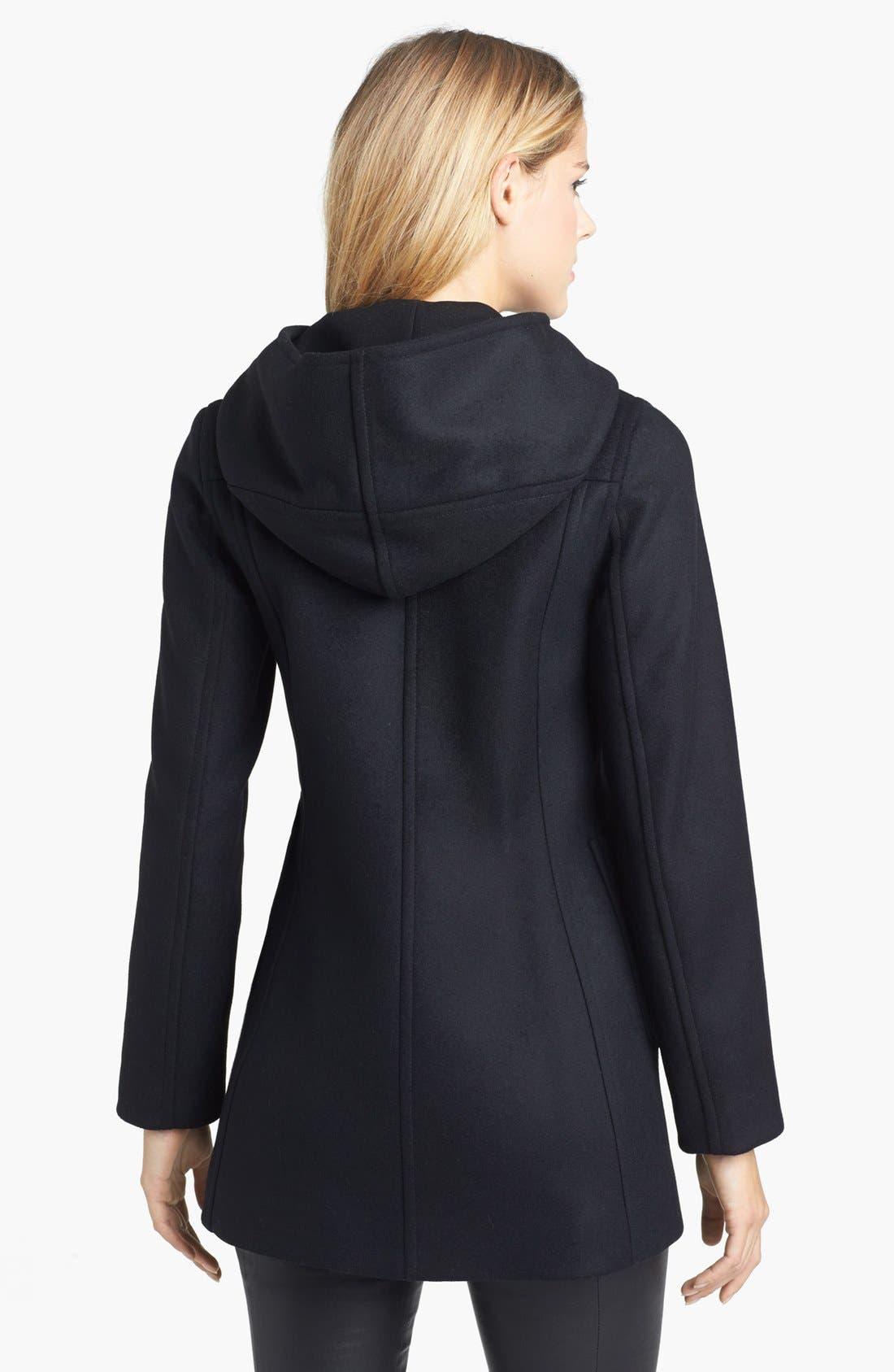 Alternate Image 2  - Kristen Blake Hooded Wool Blend Duffle Coat (Nordstrom Exclusive)