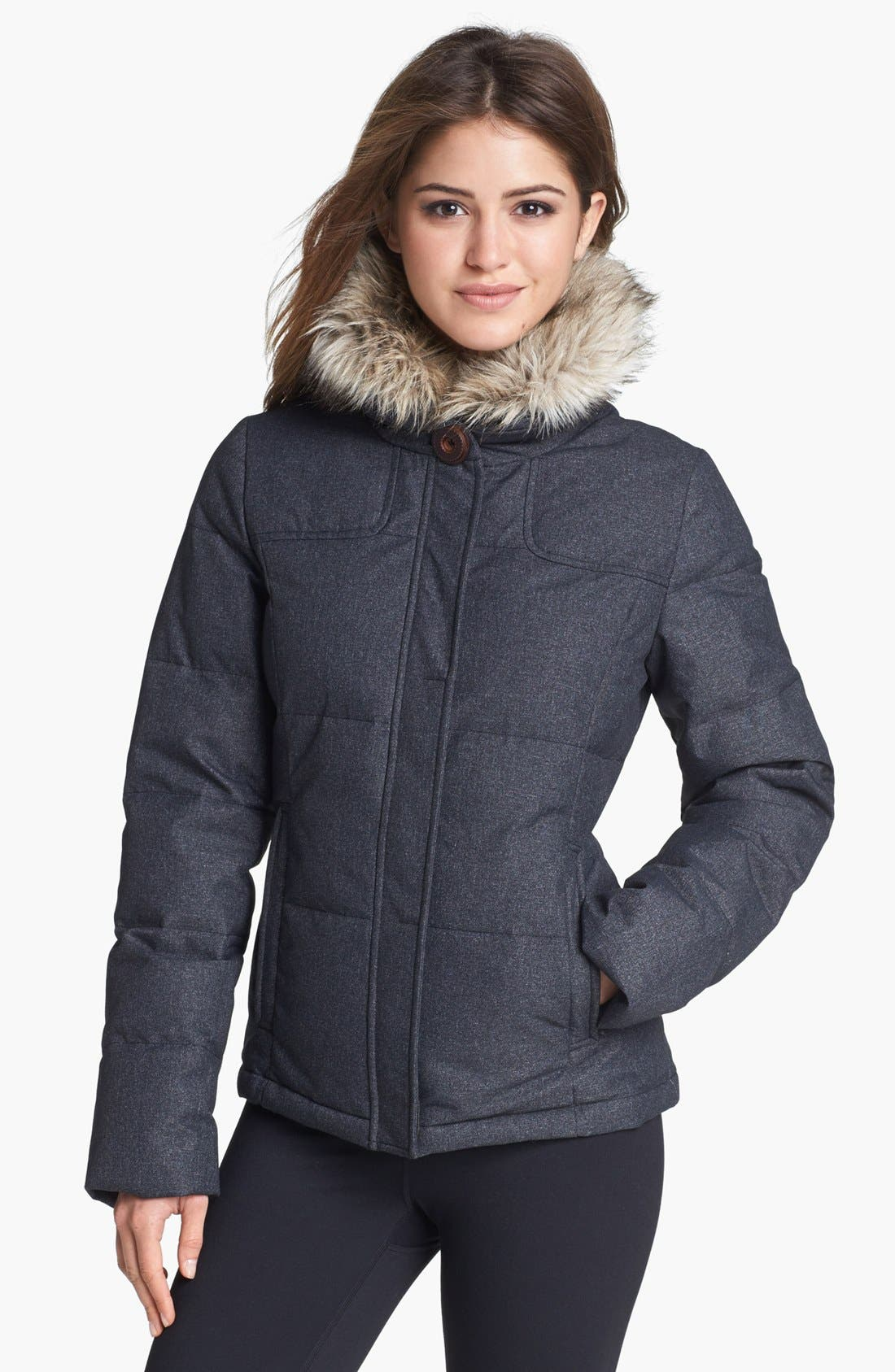 Main Image - prAna 'Jasmine' Faux Fur Down Jacket