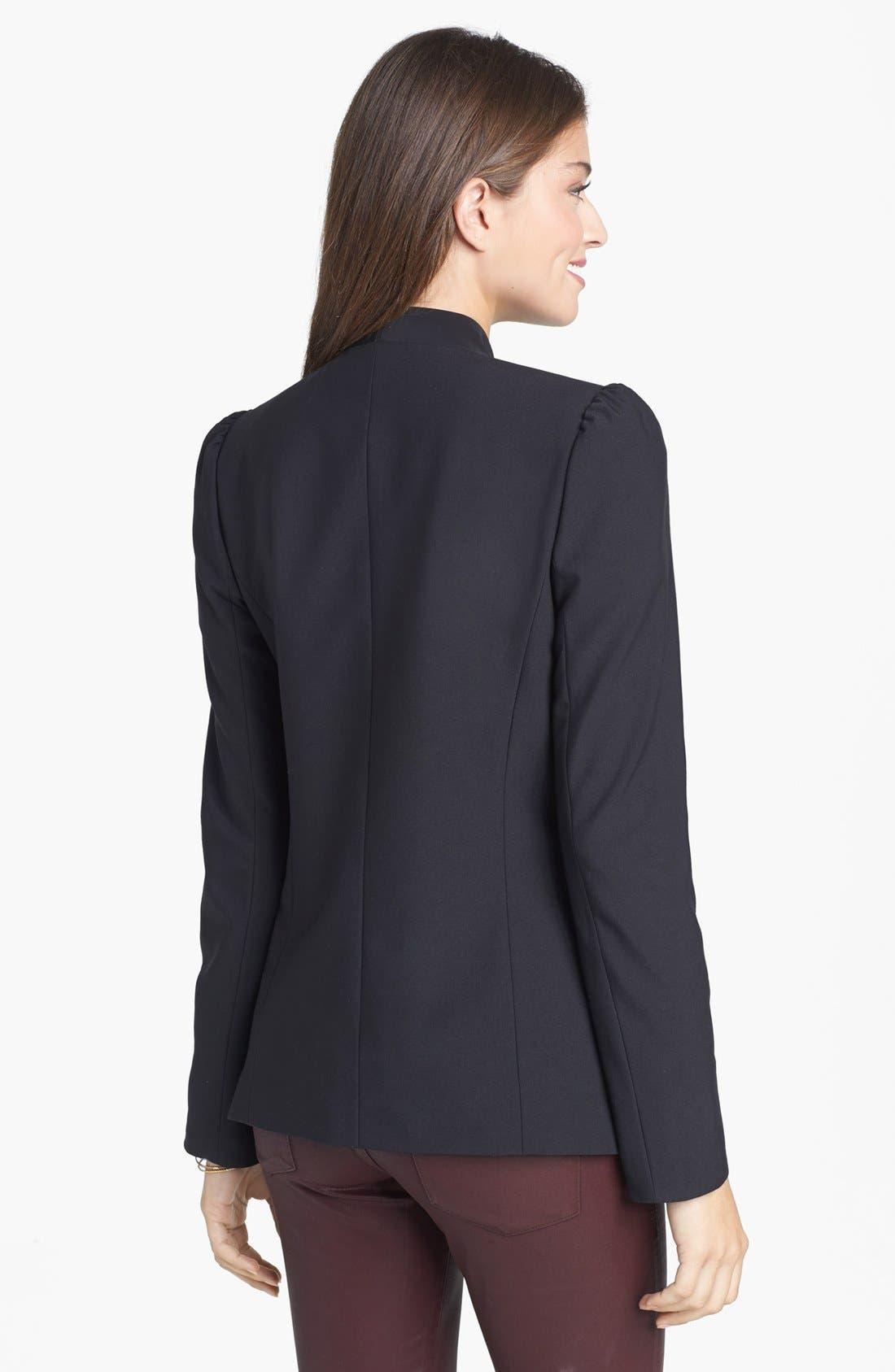 Alternate Image 2  - Frenchi® Puff Shoulder Blazer (Juniors)