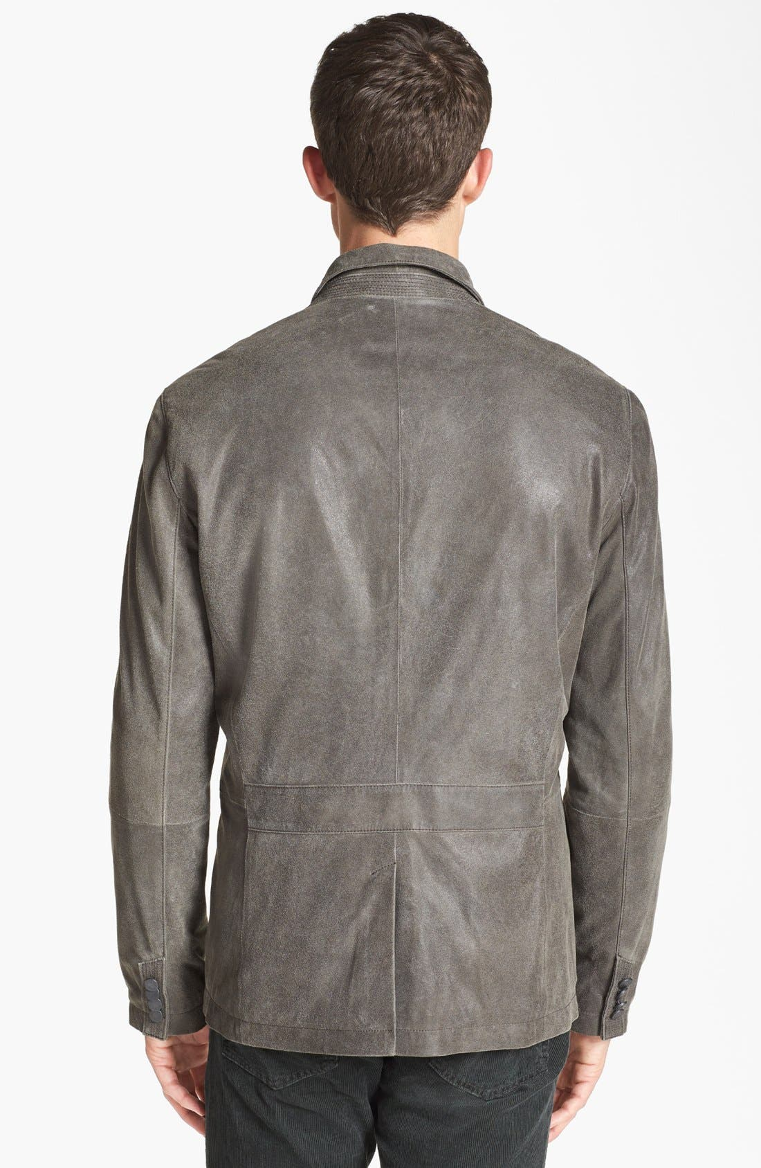 Alternate Image 2  - John Varvatos Star USA Military Leather Jacket