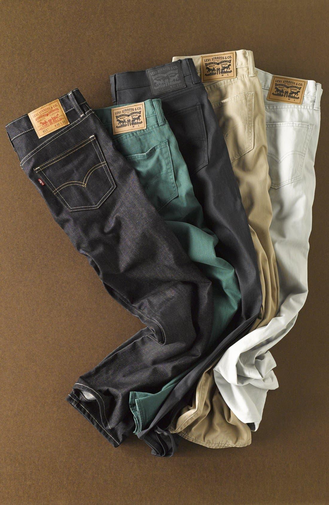 Alternate Image 7  - Levi's® '511' Slim Fit Jeans (Anthracite)