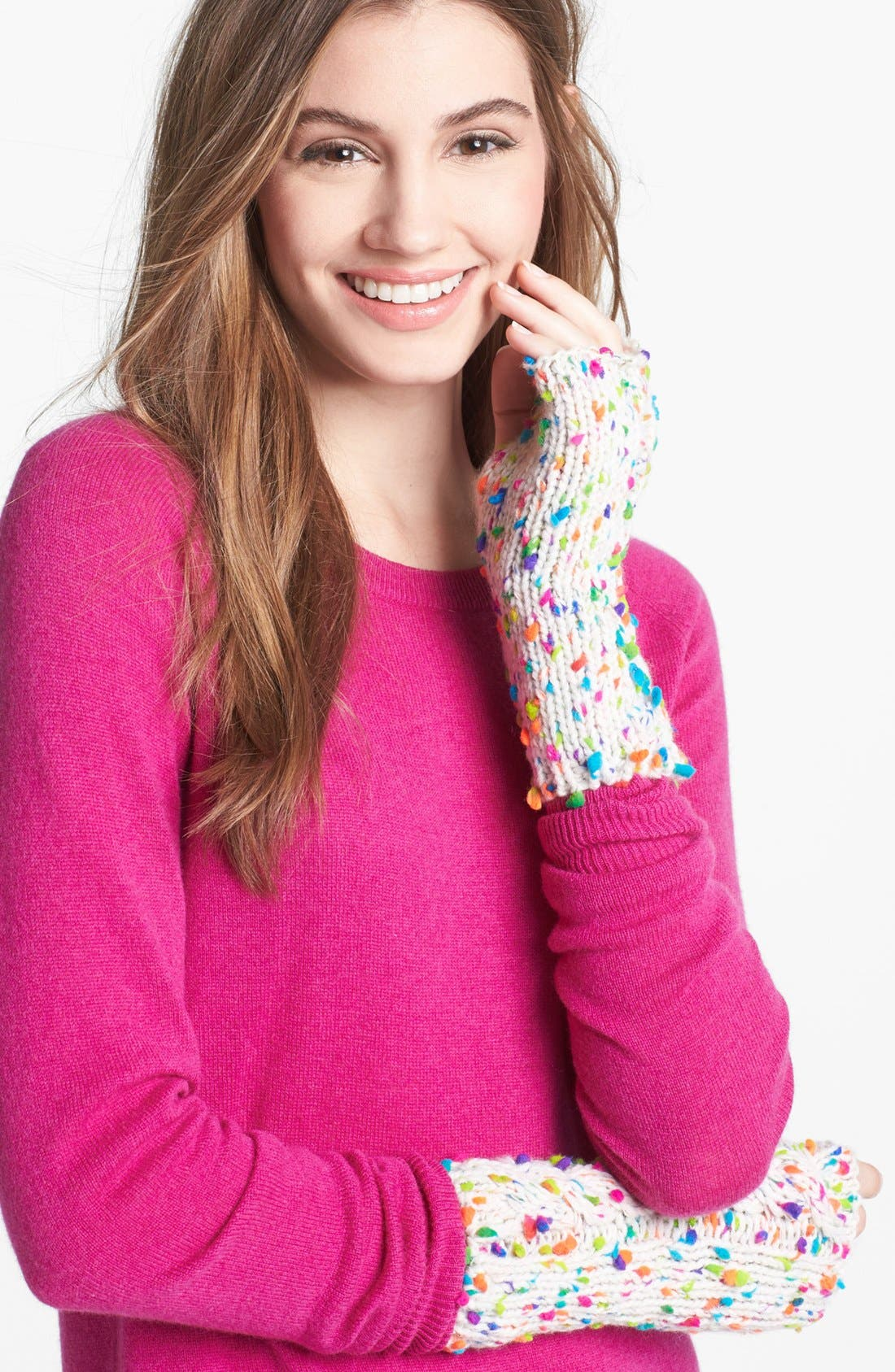 Main Image - Big Buddha Knit Arm Warmers