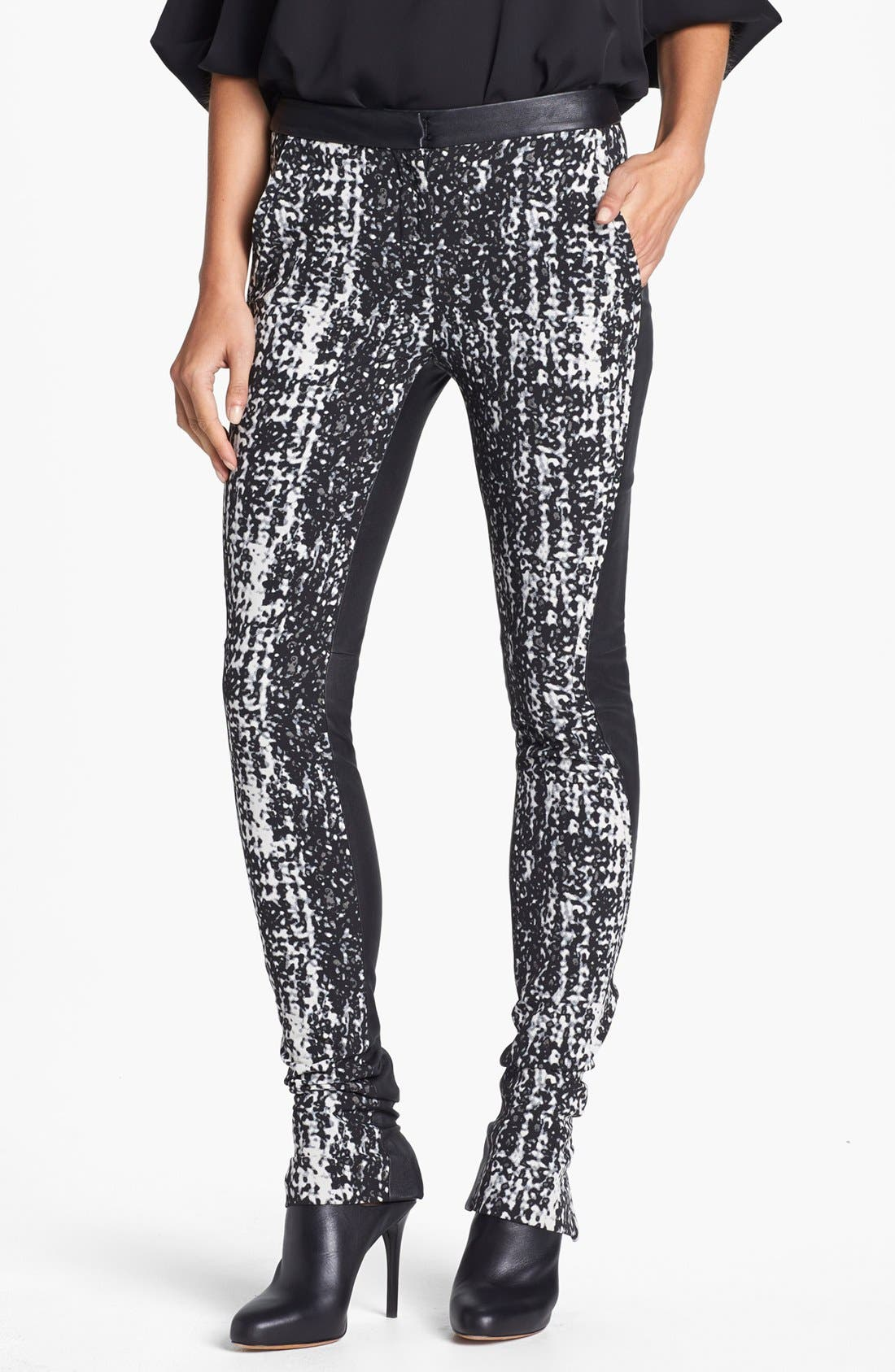 Main Image - Diane von Furstenberg 'Dorthia' Mikado & Leather Pants