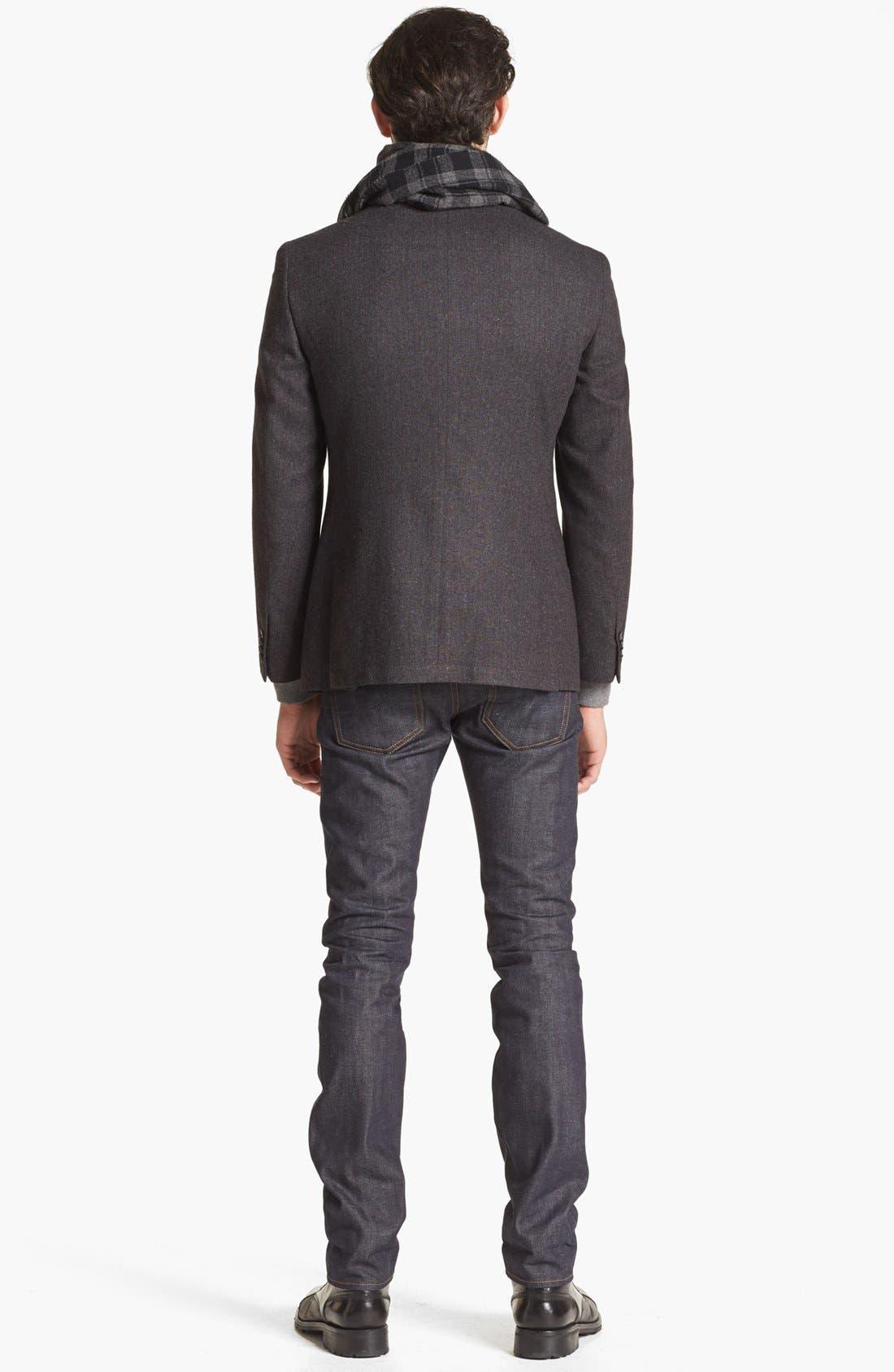 Alternate Image 5  - John Varvatos Star USA Stripe Wool Blend Sportcoat