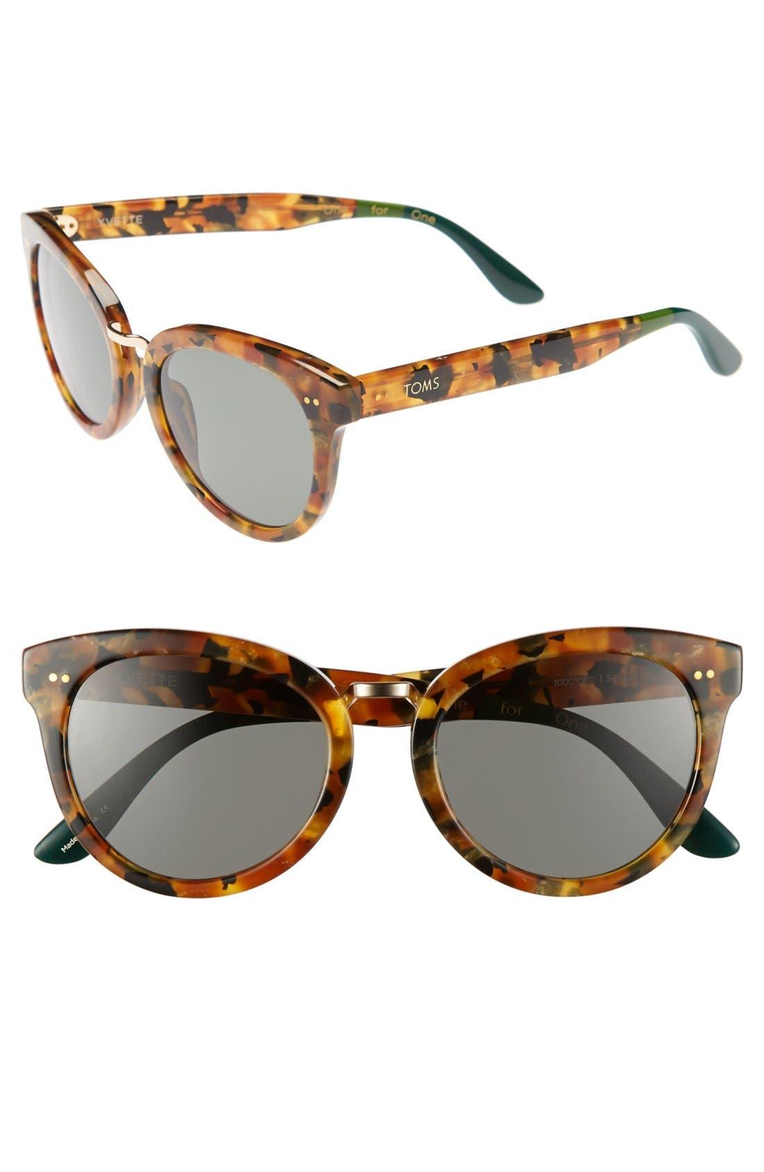 Alternate Image 1 Selected - TOMS 'Yvette' 52mm Sunglasses