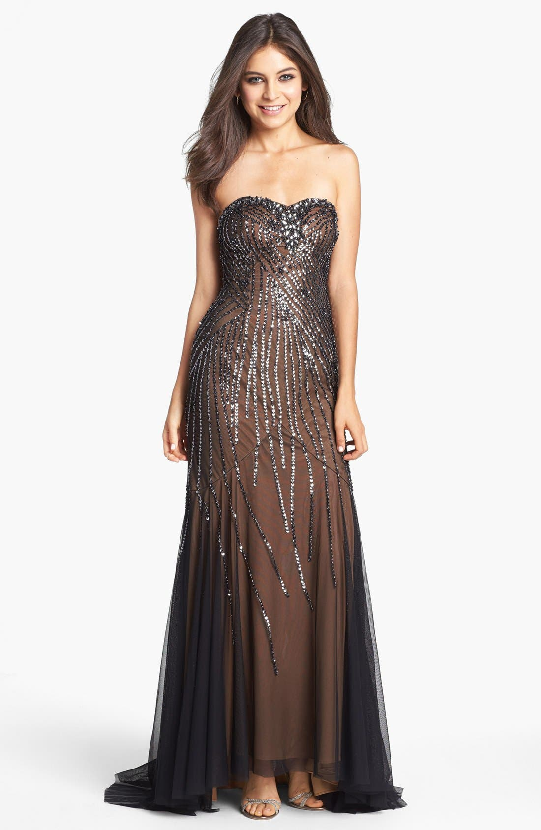 Main Image - Sean Collection Embellished Strapless Trumpet Gown