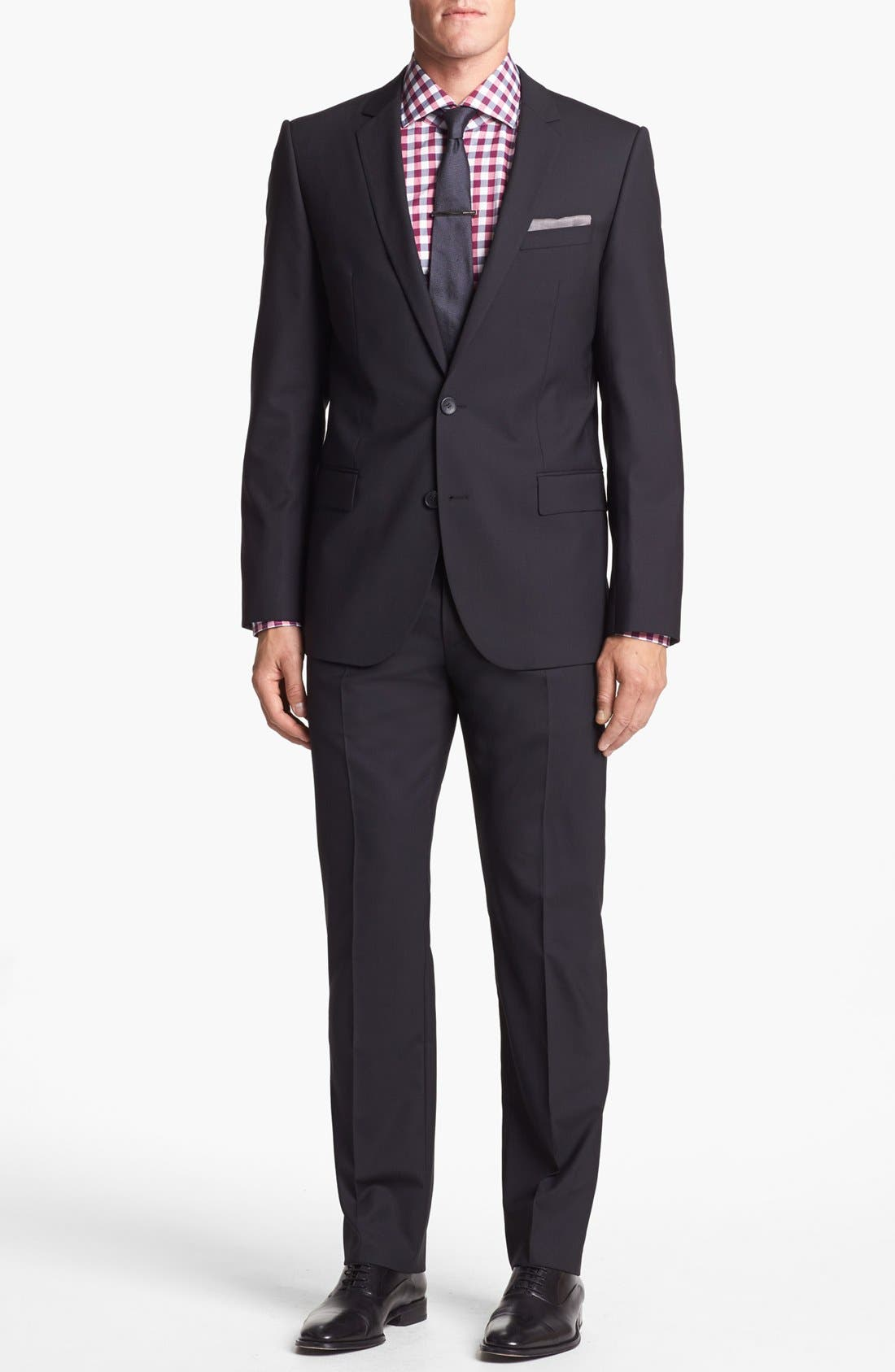 Alternate Image 1 Selected - HUGO 'Amaro/Heise' Trim Fit Stretch Suit