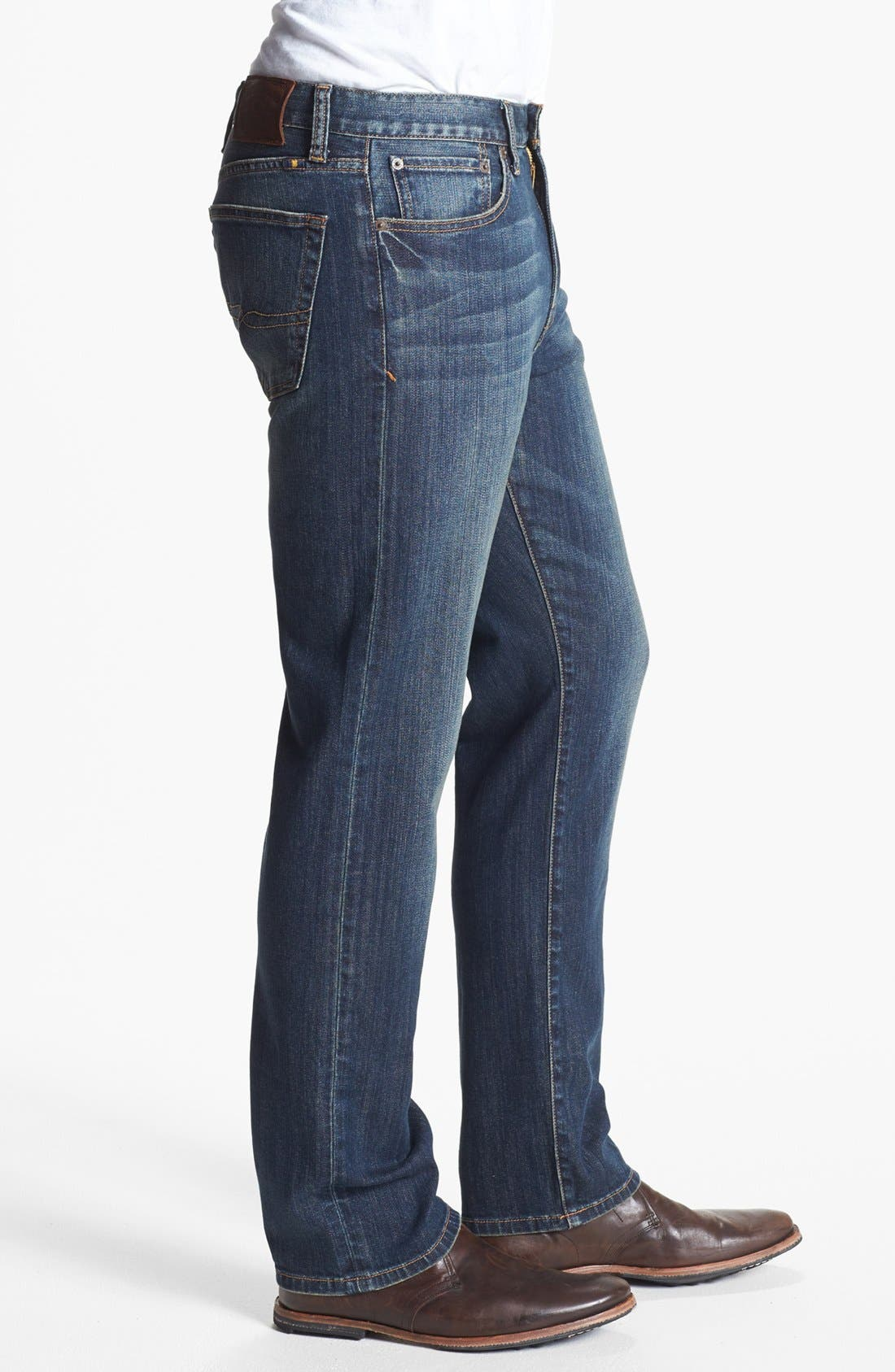 Alternate Image 3  - Lucky Brand '329 Classic' Straight Leg Jeans (Glacier)