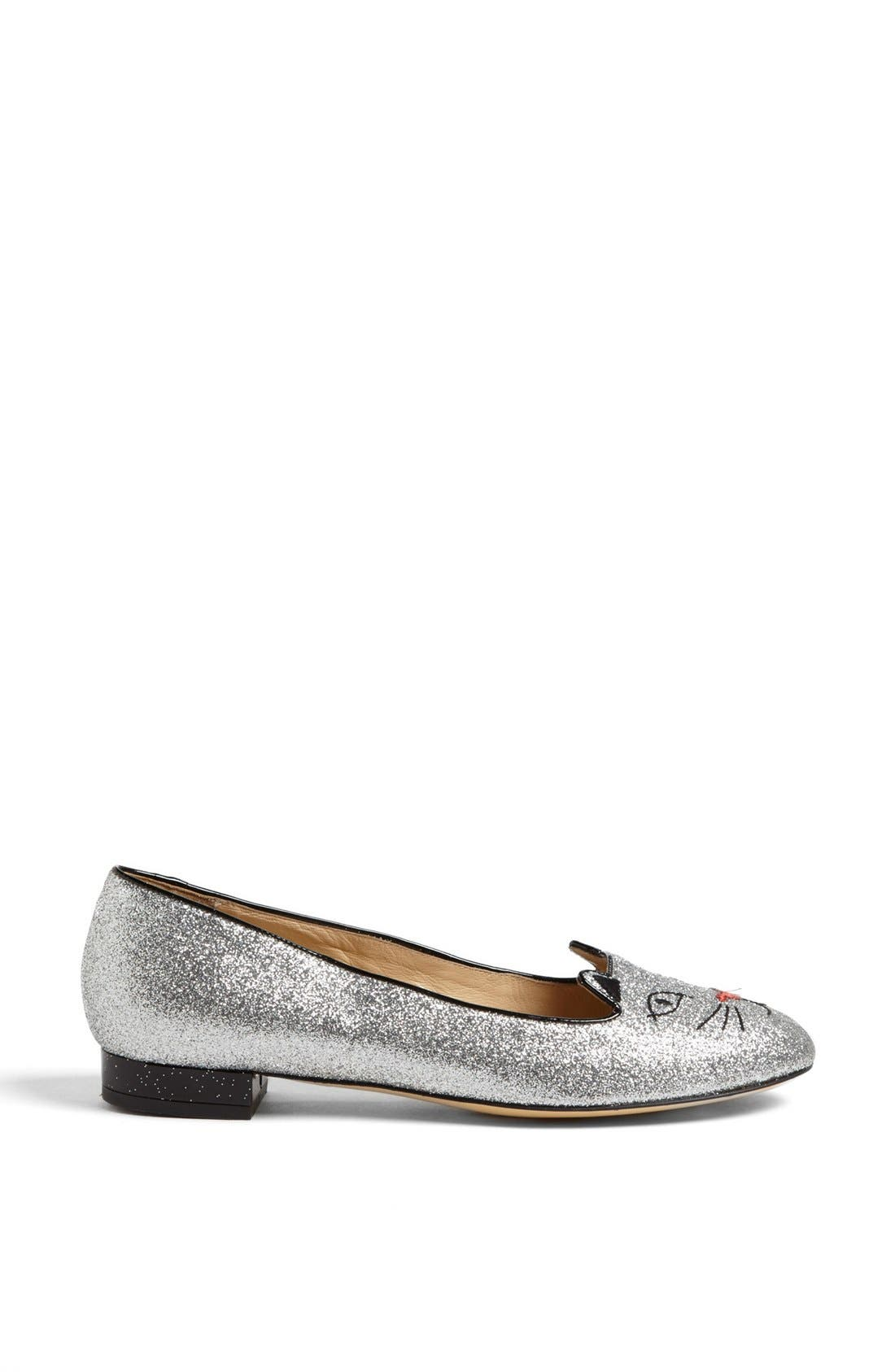 Alternate Image 4  - Charlotte Olympia 'Glitter Kitty' Flat