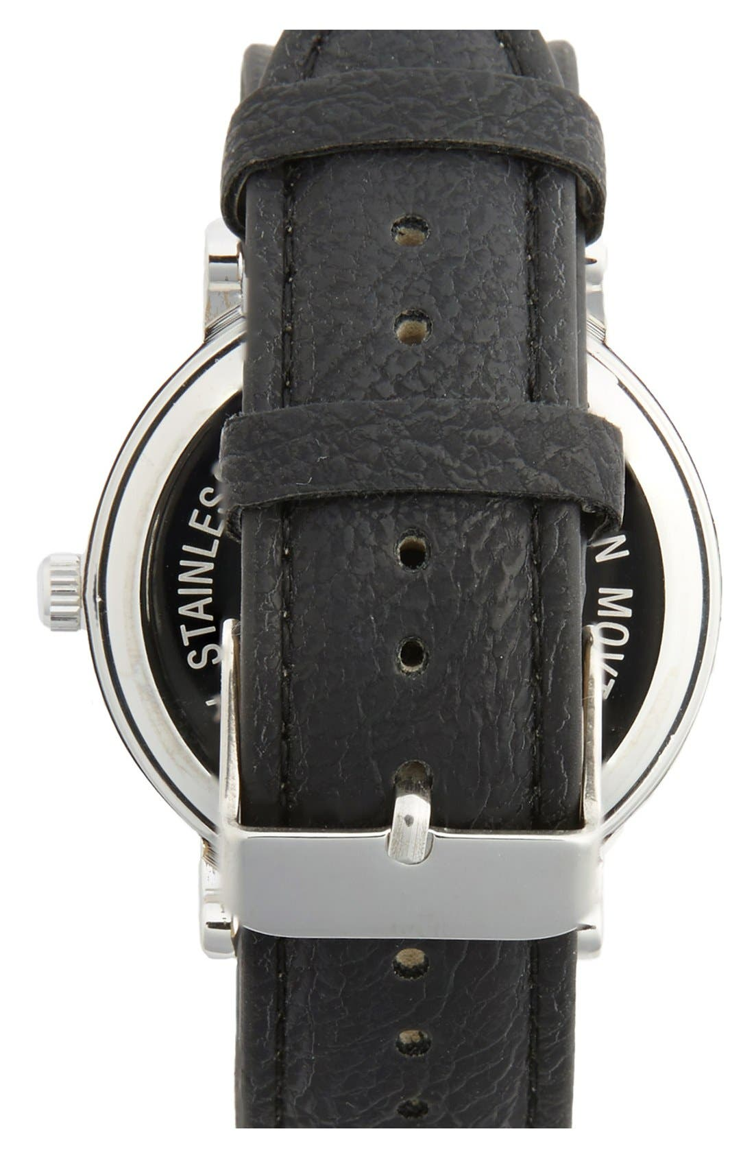 Alternate Image 2  - ACCUTIME Round Dial Strap Watch, 39mm