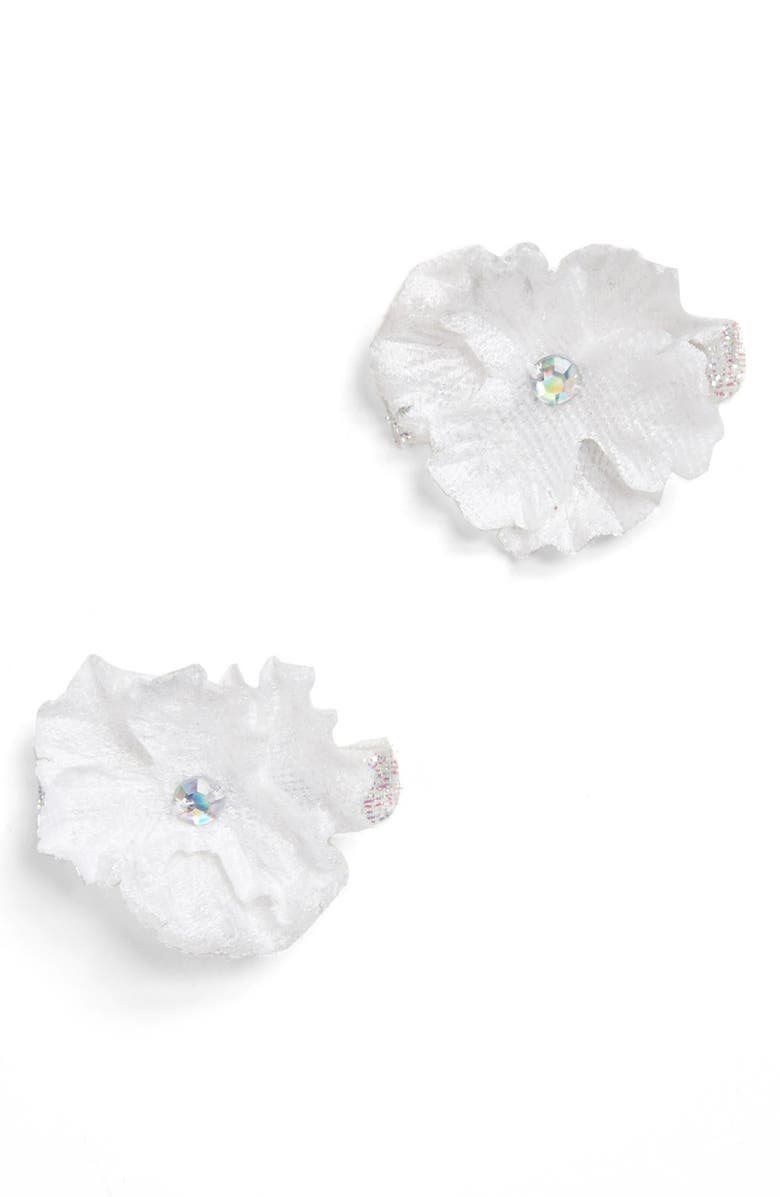 Plh Bows Laces Flower Hair Clips Set Of 2 Baby Girls Nordstrom