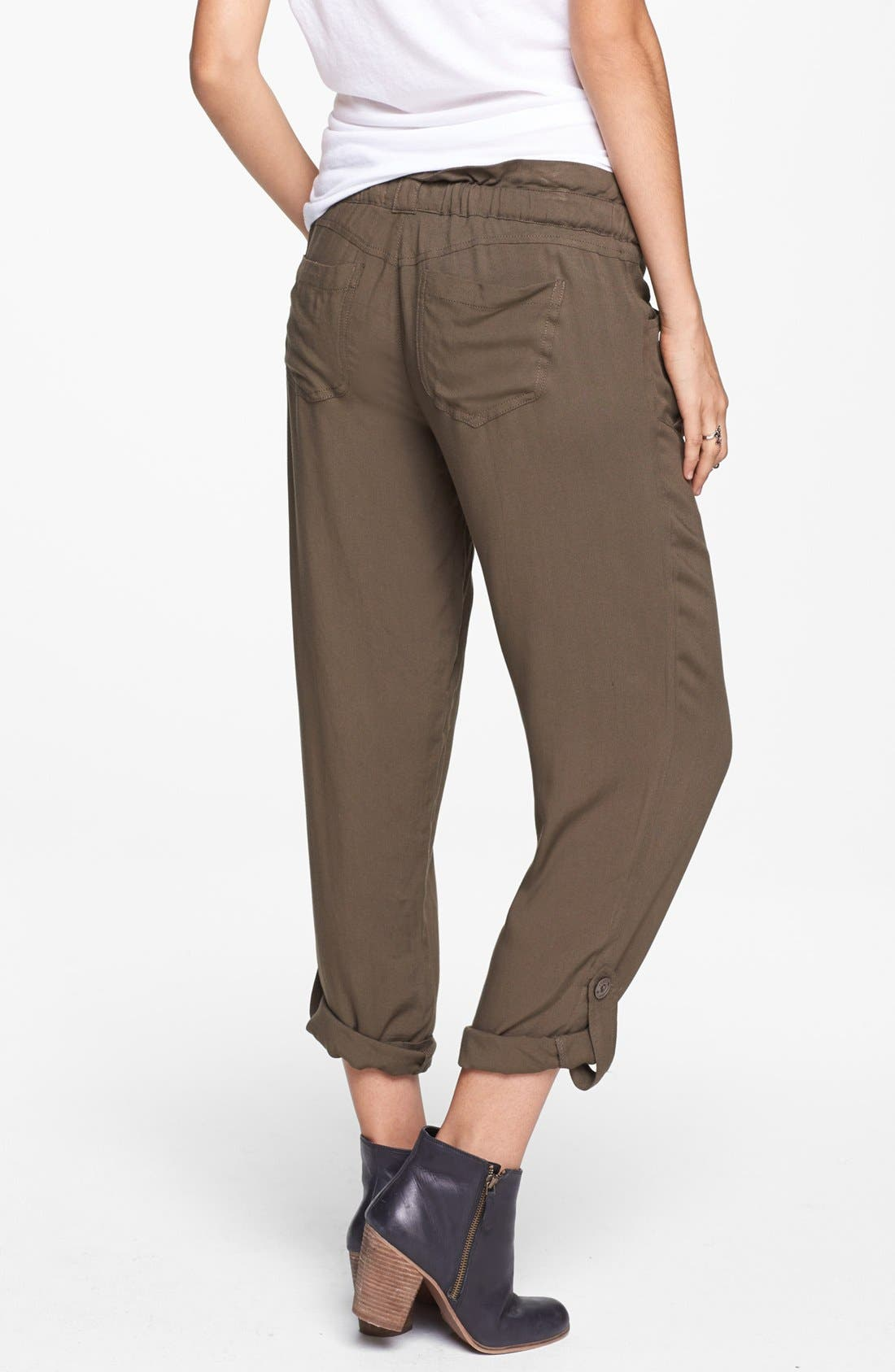 Alternate Image 2  - Jolt Drawstring Woven Pants (Juniors)