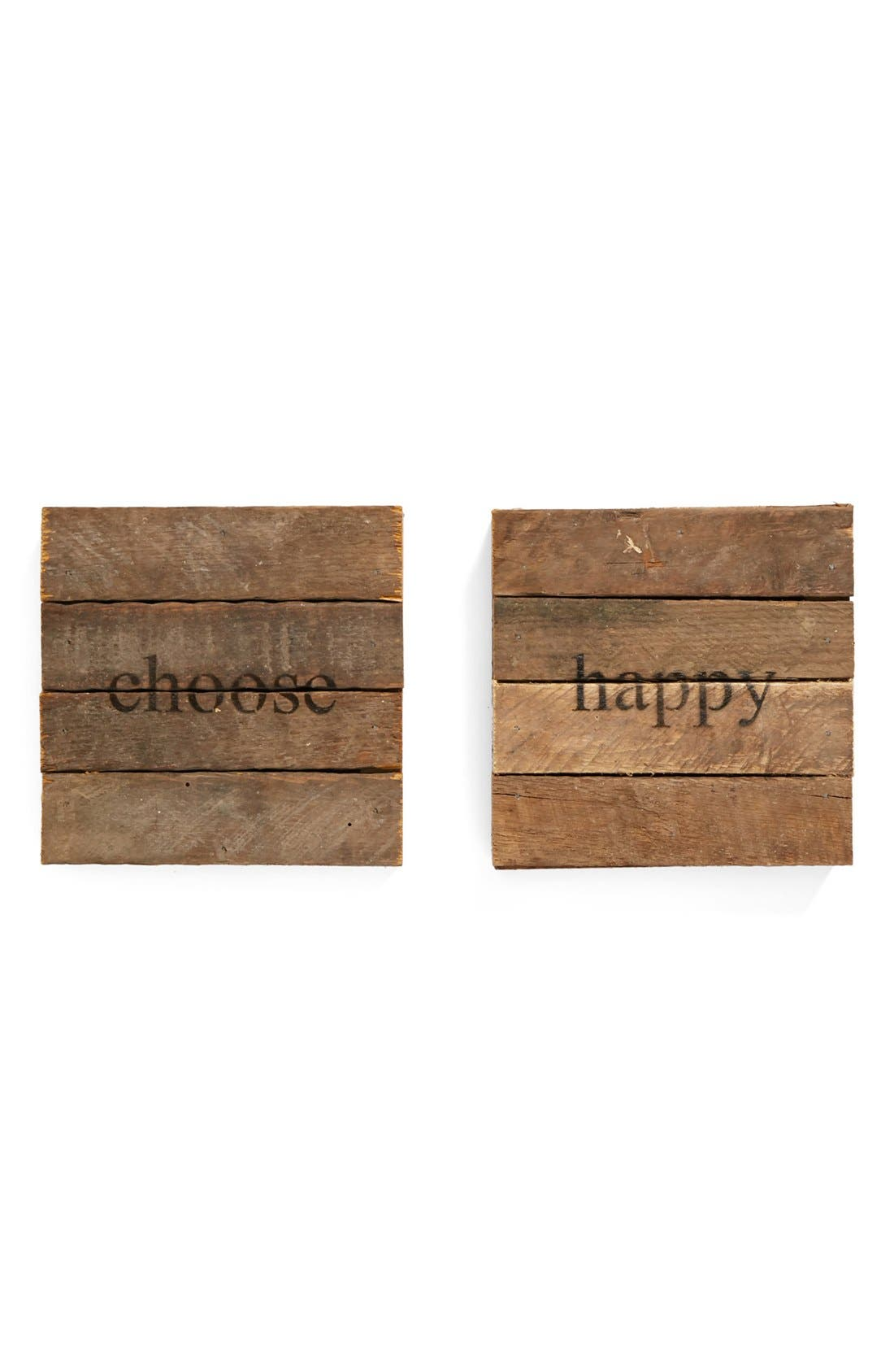 Alternate Image 1 Selected - Second Nature By Hand 'Choose Happy' Wall Art (2-Pack)