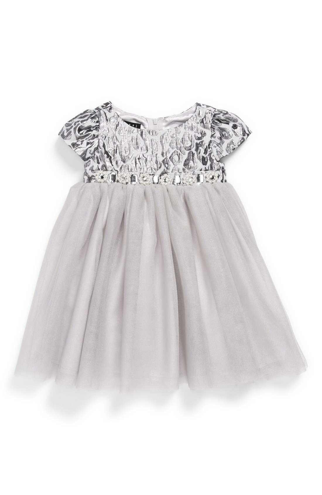 Main Image - Biscotti Leopard Print Ballerina Dress (Baby Girls)