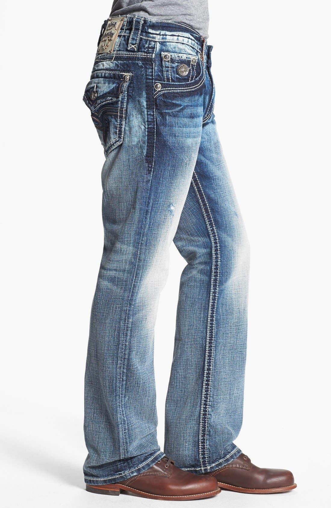 Alternate Image 3  - Rock Revival 'Carter' Straight Leg Jeans (Light Blue)