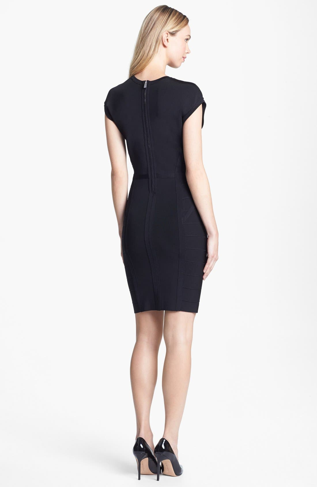 Alternate Image 2  - Vince Camuto Banded Cap Sleeve Knit Dress