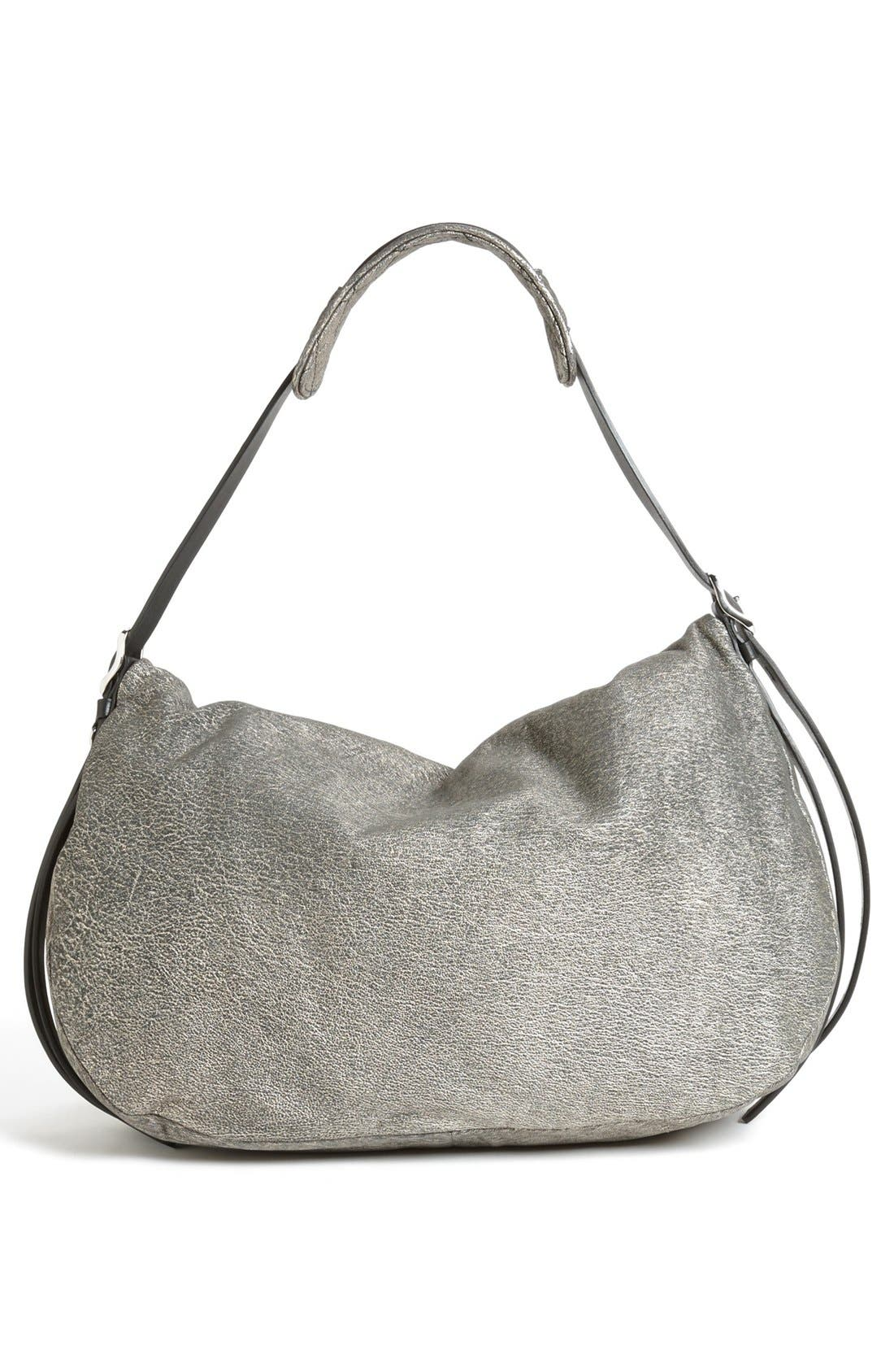 Alternate Image 4  - Jimmy Choo 'Biker - Large' Metallic Suede Shoulder Bag