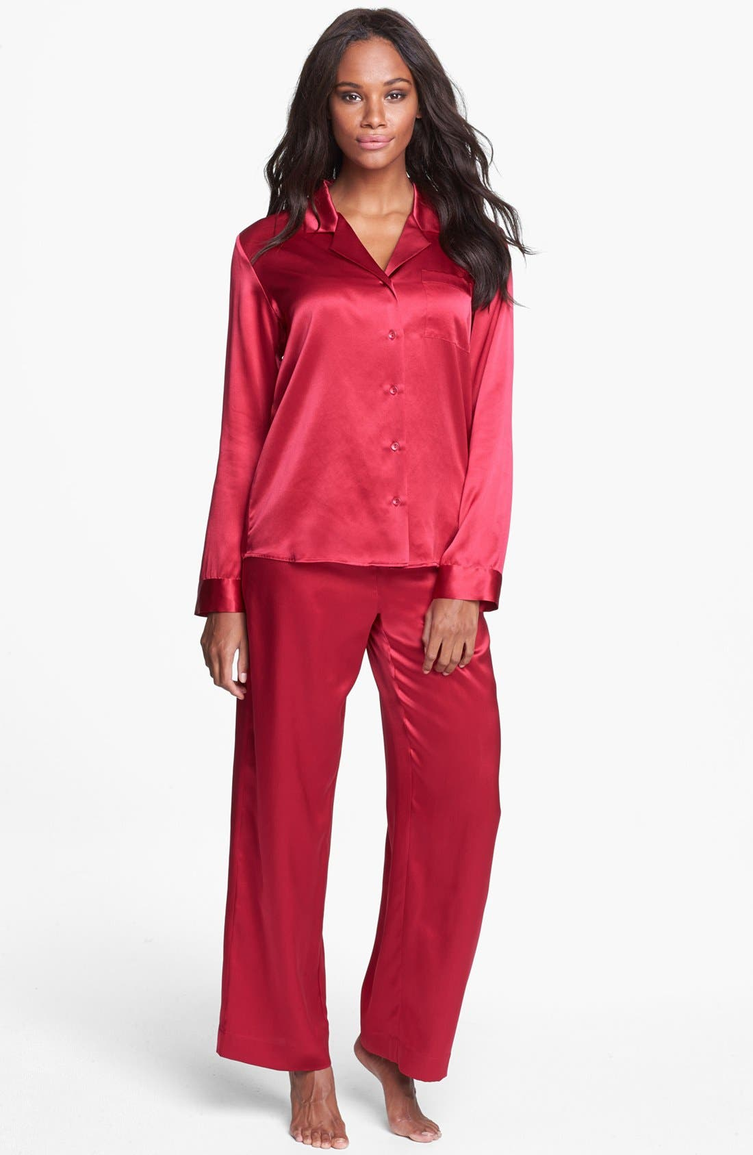 Alternate Image 1 Selected - Shimera Silk Pajamas