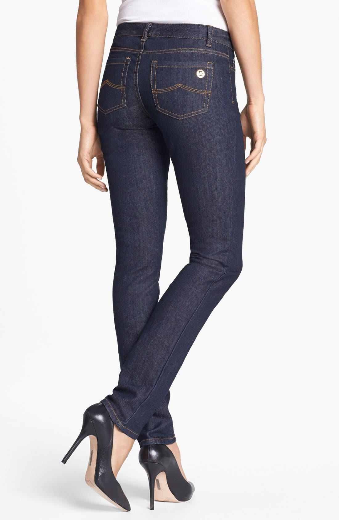 Alternate Image 2  - MICHAEL Michael Kors 'Sausalito' Skinny Jeans (Premiere Indigo)