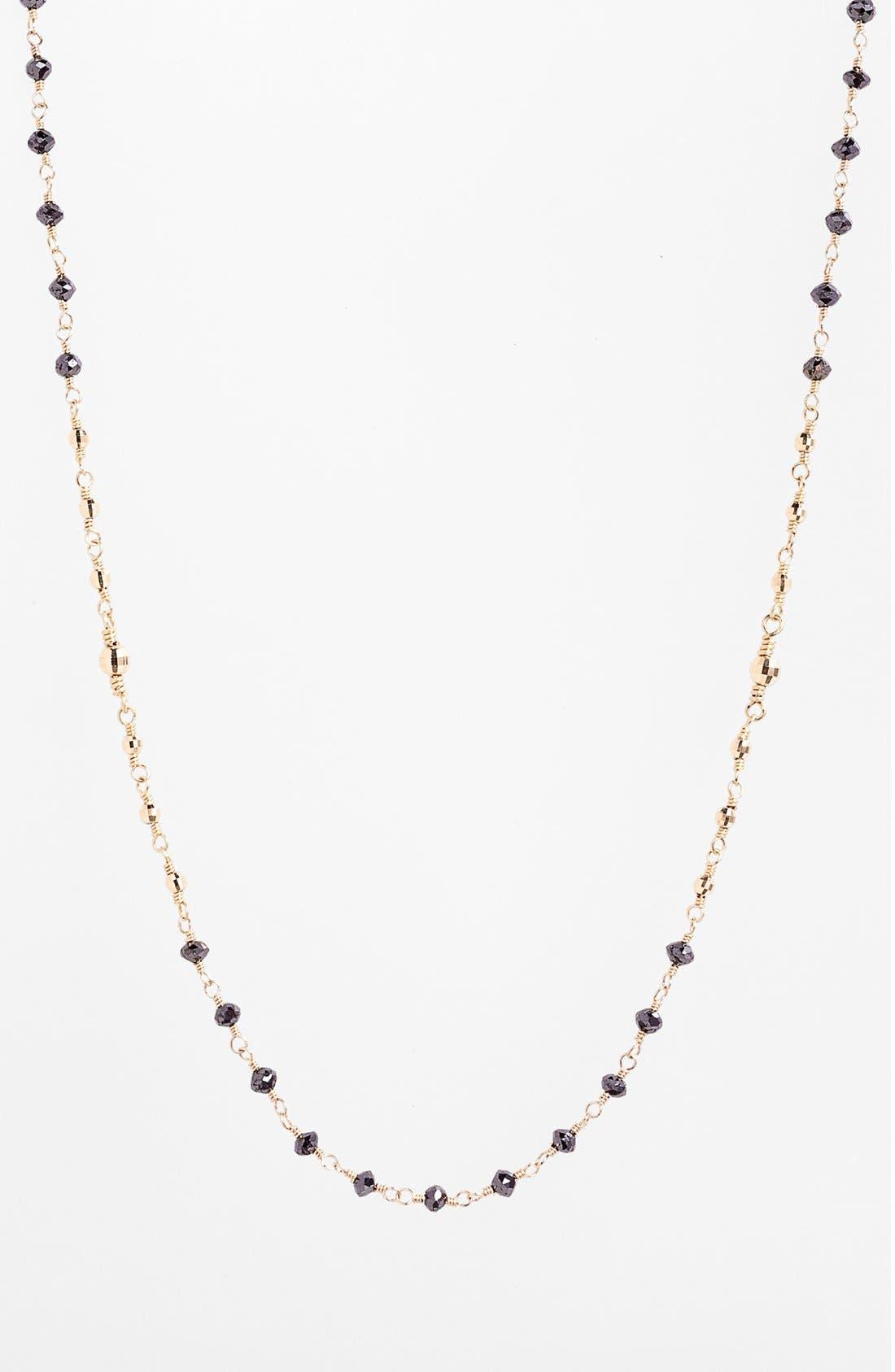 Alternate Image 2  - Mizuki 'Cut Beads' Long Black Diamond Station Necklace
