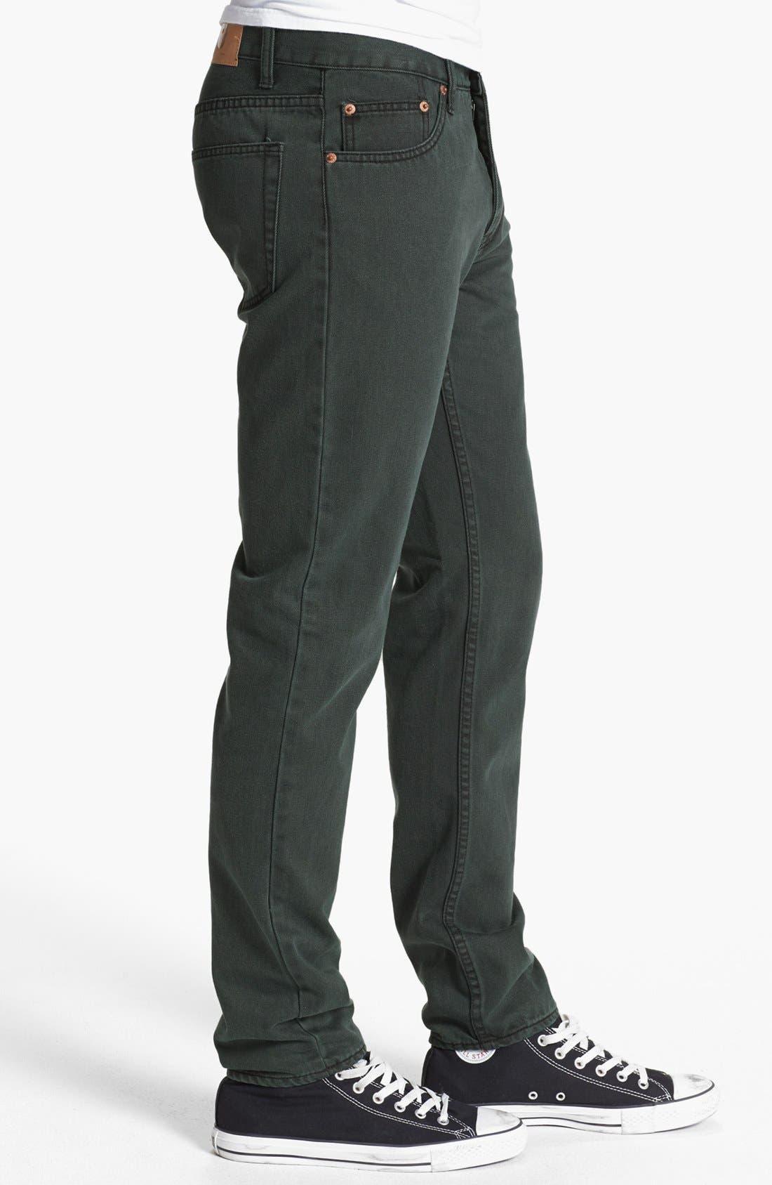Alternate Image 3  - Cheap Monday High Slim Straight Leg Jeans (Black Night)