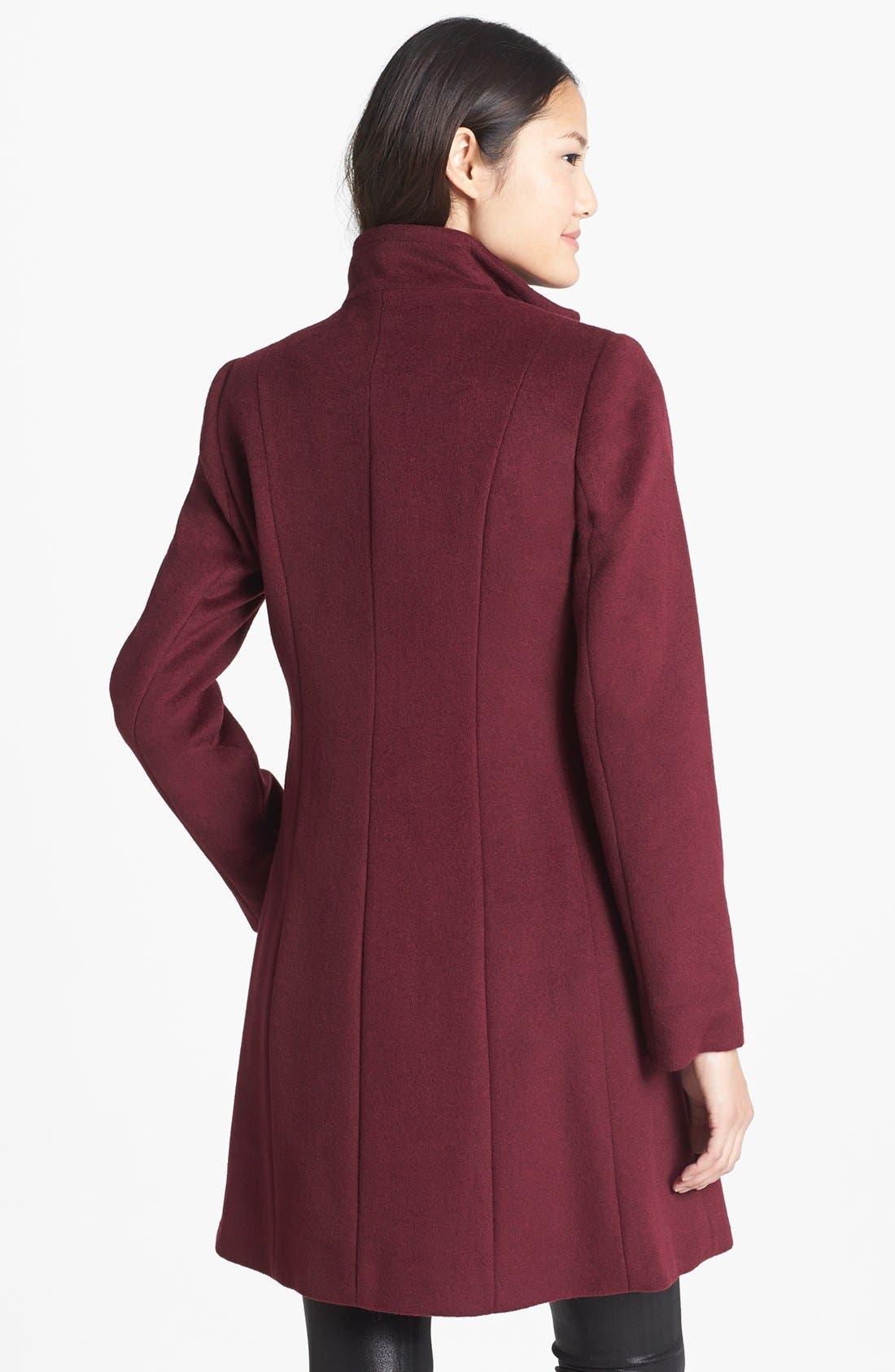 Alternate Image 2  - T Tahari 'Kendra' Ruffle Front Walking Coat