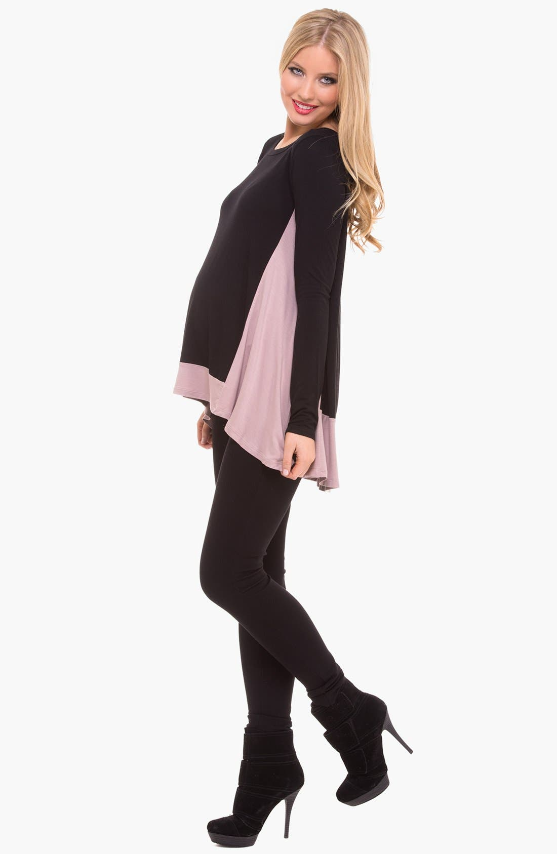 Alternate Image 3  - Olian Colorblock Maternity Tunic