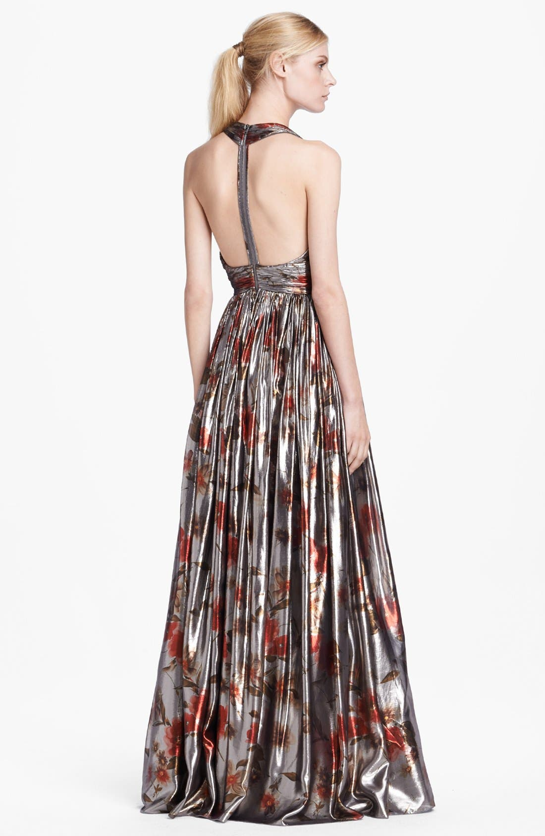 Alternate Image 2  - Alice + Olivia 'Nova' Sleeveless Lamé Gown
