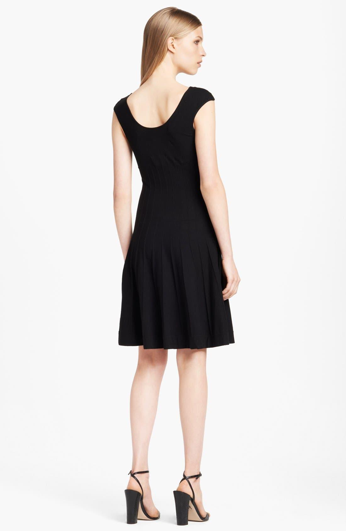 Alternate Image 2  - Donna Karan Collection Cap Sleeve Fit & Flare Dress