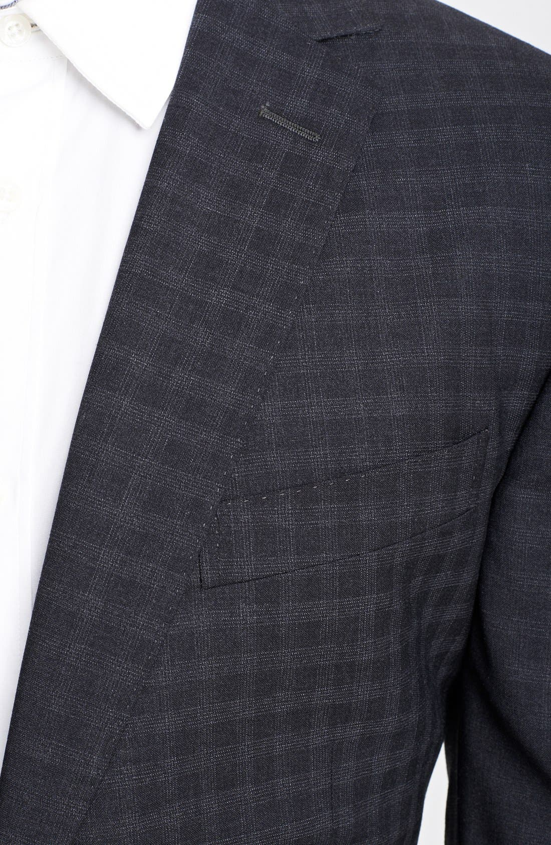 Alternate Image 2  - Z Zegna 'City' Dark Grey Check Wool Suit