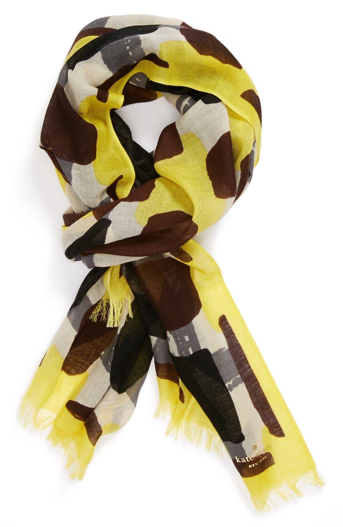 Alternate Image 2  - kate spade new york 'beautiful type - menswear geo' scarf