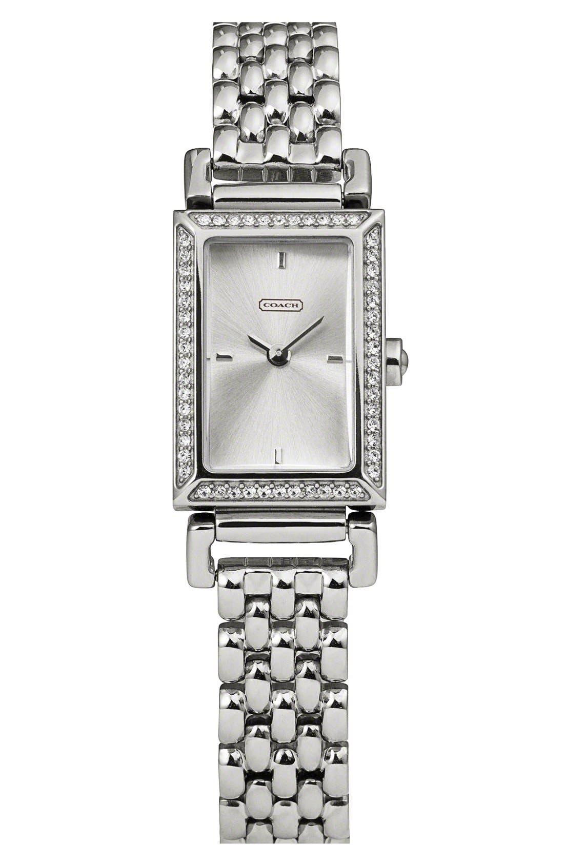 Main Image - COACH 'Madison' Crystal Bezel Bracelet Watch, 17mm x 30mm