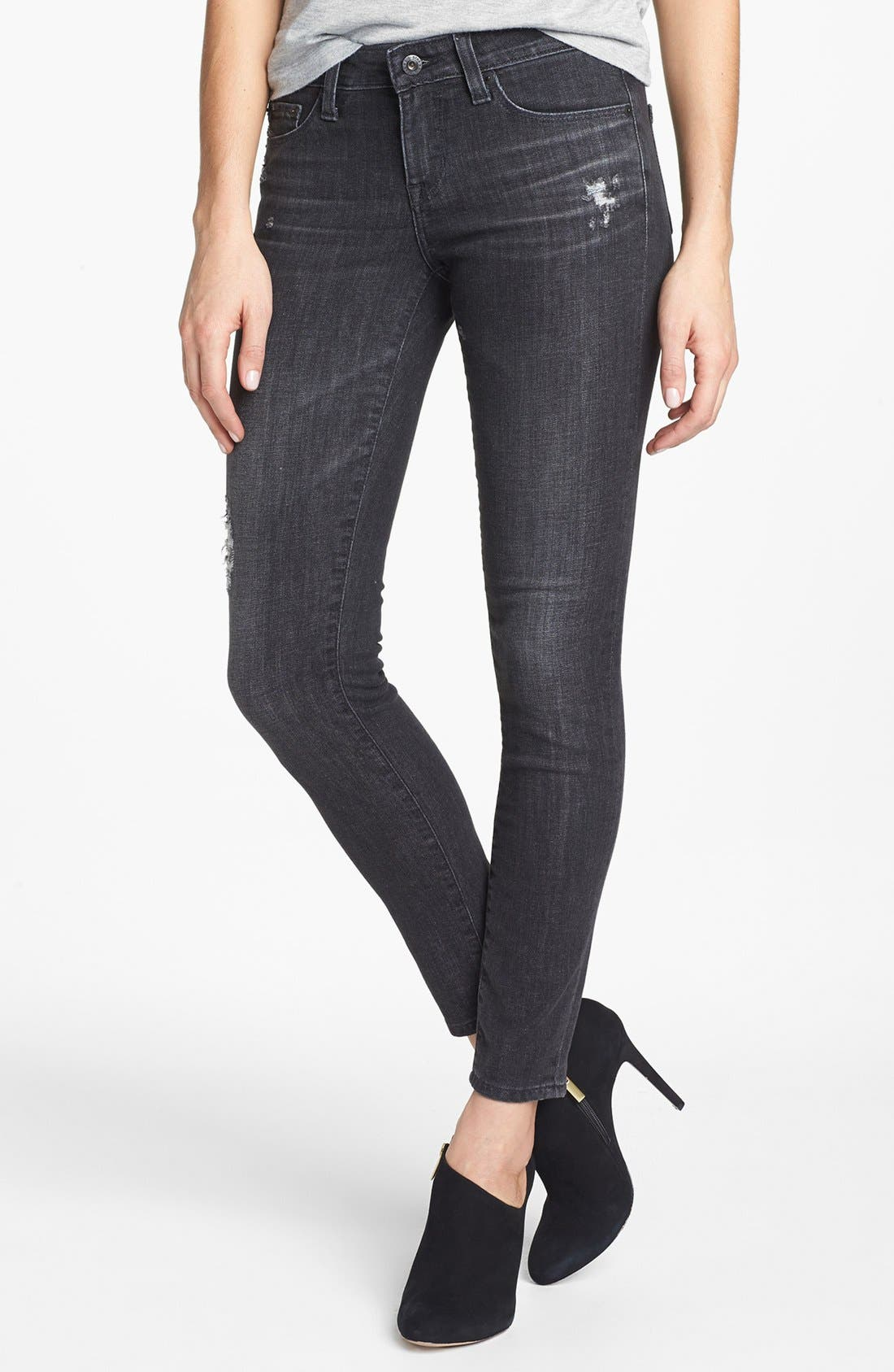 Alternate Image 1 Selected - Big Star 'Alex' Skinny Jeans (Moscow) (Petite)