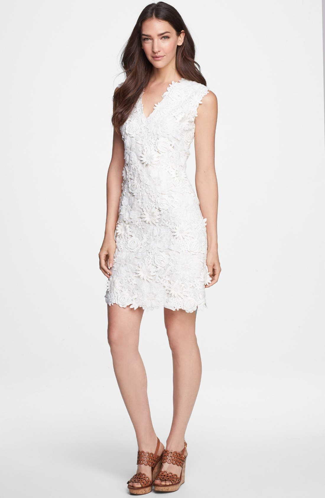 Alternate Image 1 Selected - Tory Burch Guipure Lace Silk Sheath Dress