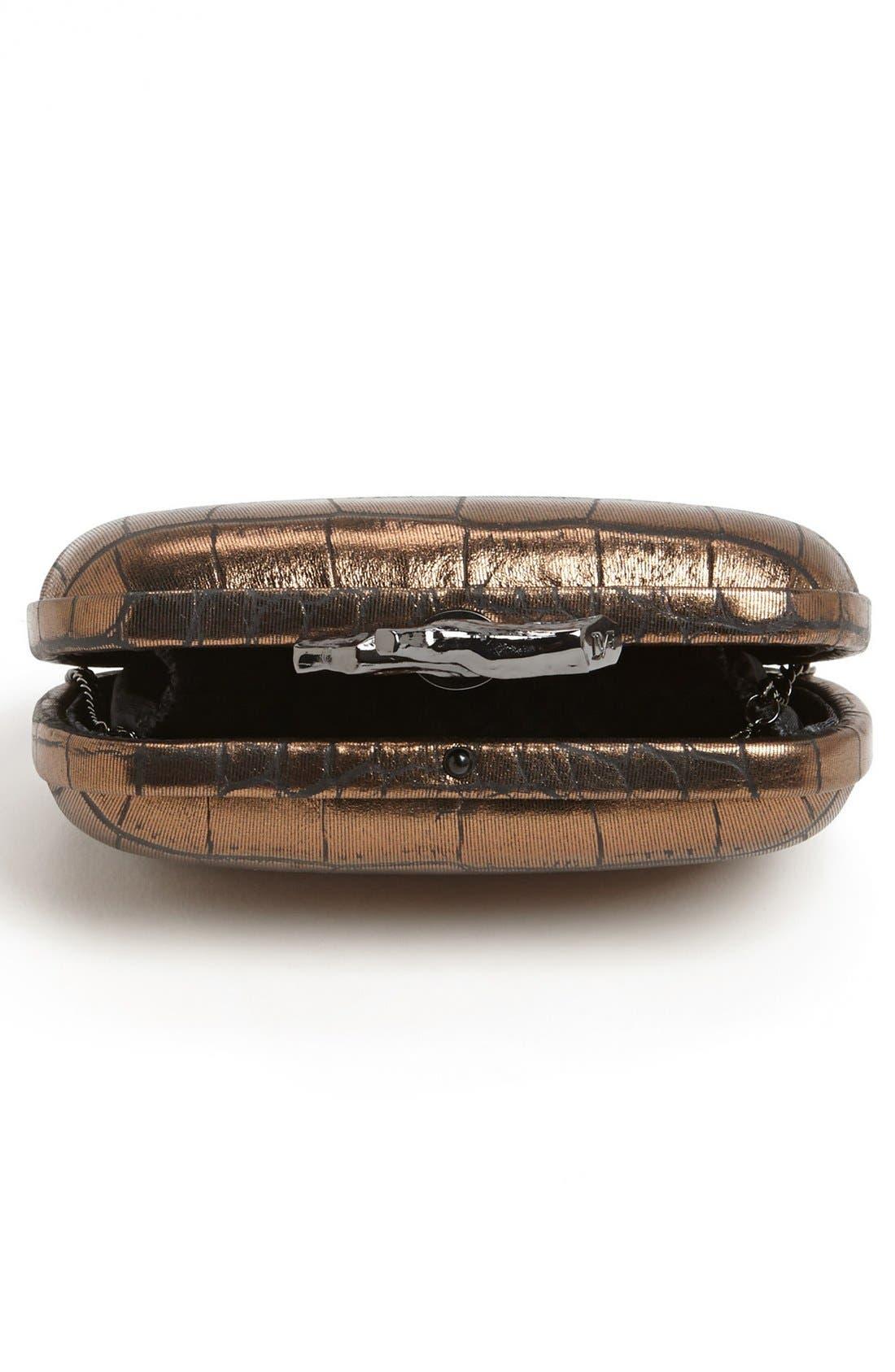 Alternate Image 3  - Diane von Furstenberg 'Lytton' Embossed Metallic Leather Clutch