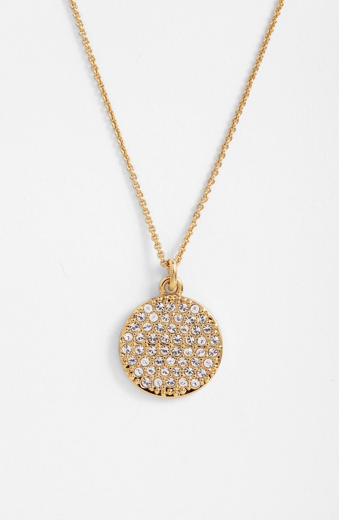Main Image - kate spade new york 'idiom - all that glitters' boxed pavé pendant necklace