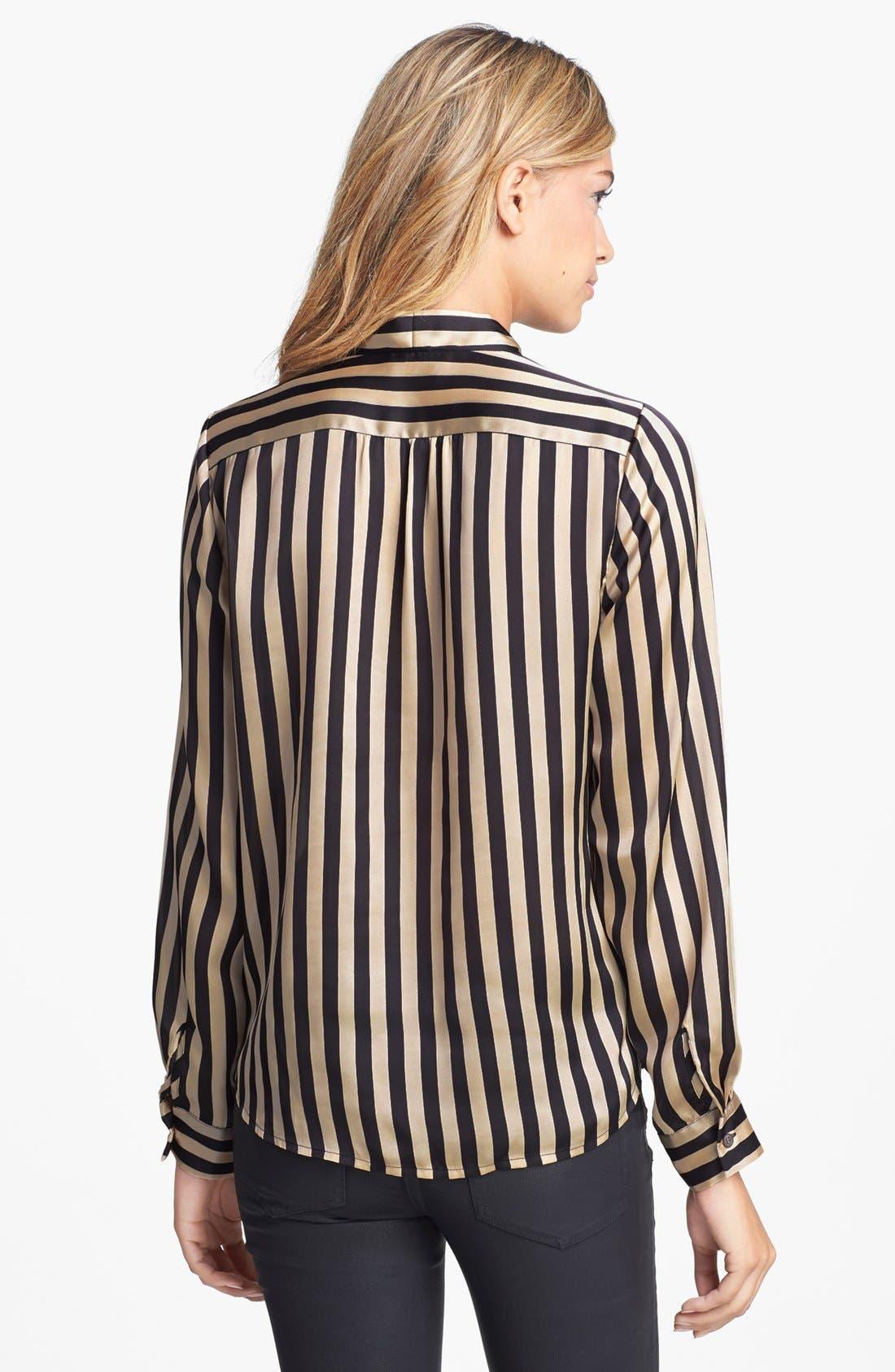 Alternate Image 2  - Vince Camuto Faux Wrap Stripe Blouse