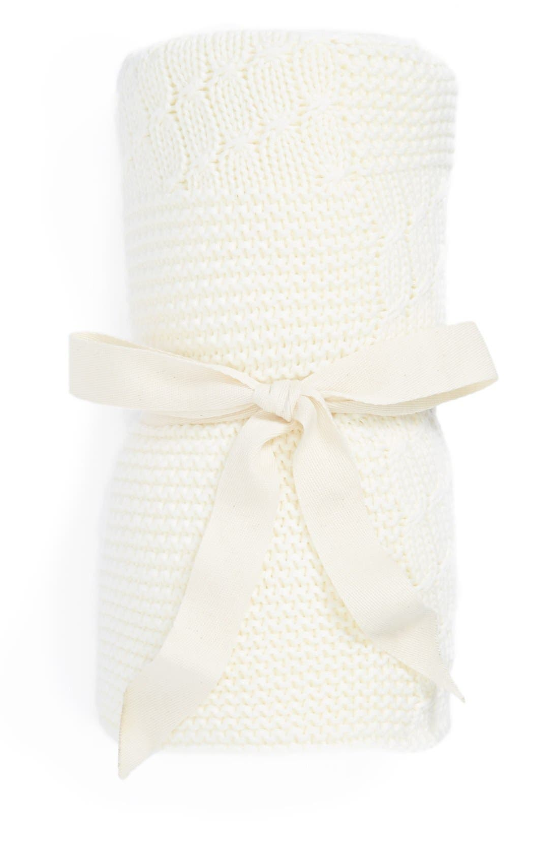 Main Image - Nordstrom Baby Patchwork Sweater Knit Blanket (Baby)