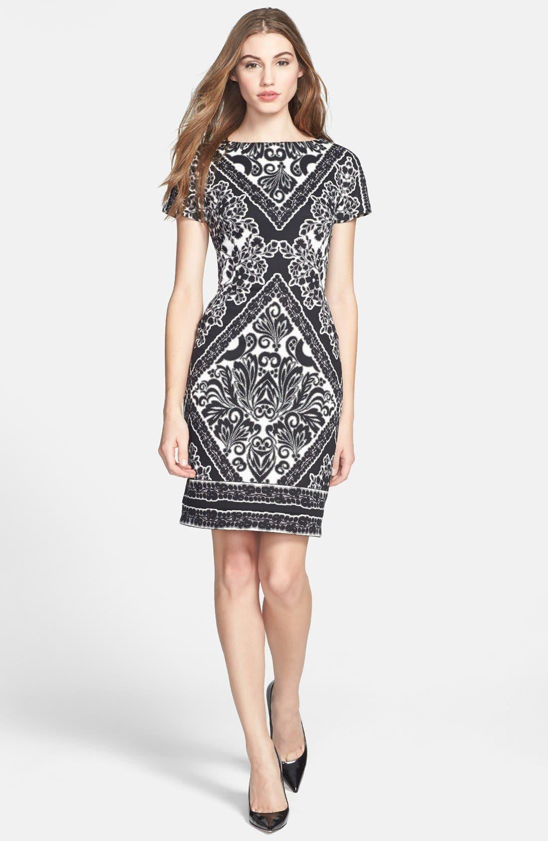 Alternate Image 1 Selected - Maggy London Print Ponte Sheath Dress