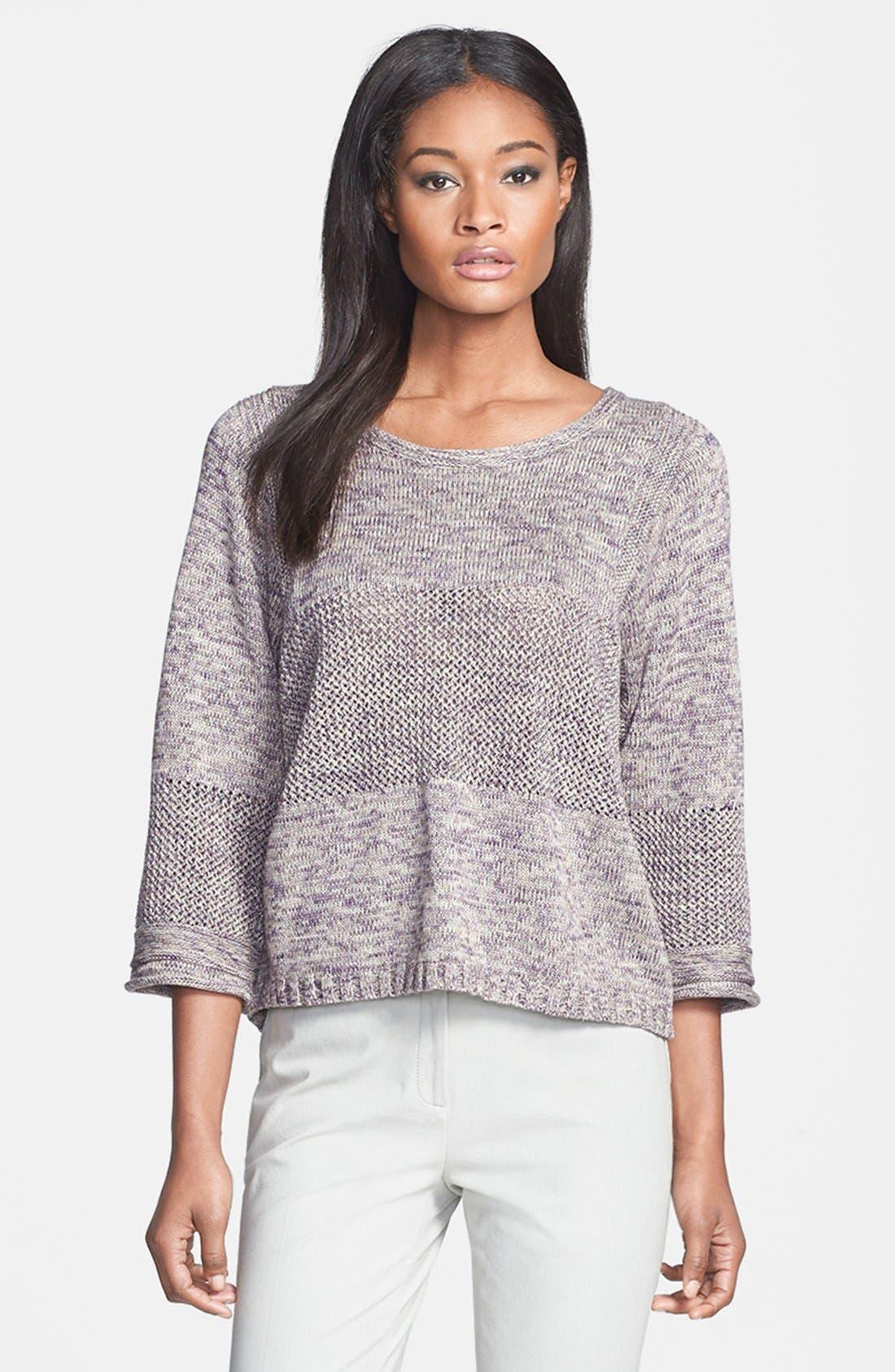 Alternate Image 1 Selected - Lafayette 148 New York Multi Stitch Sweater