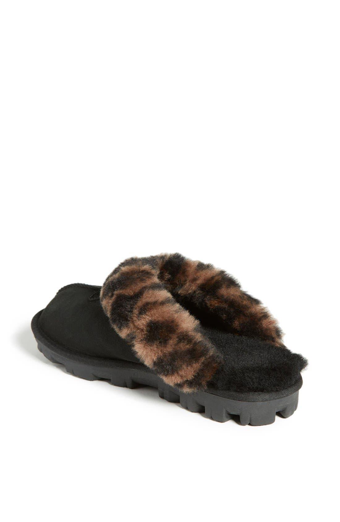 Alternate Image 2  - UGG® Leopard Spot Slipper (Women)