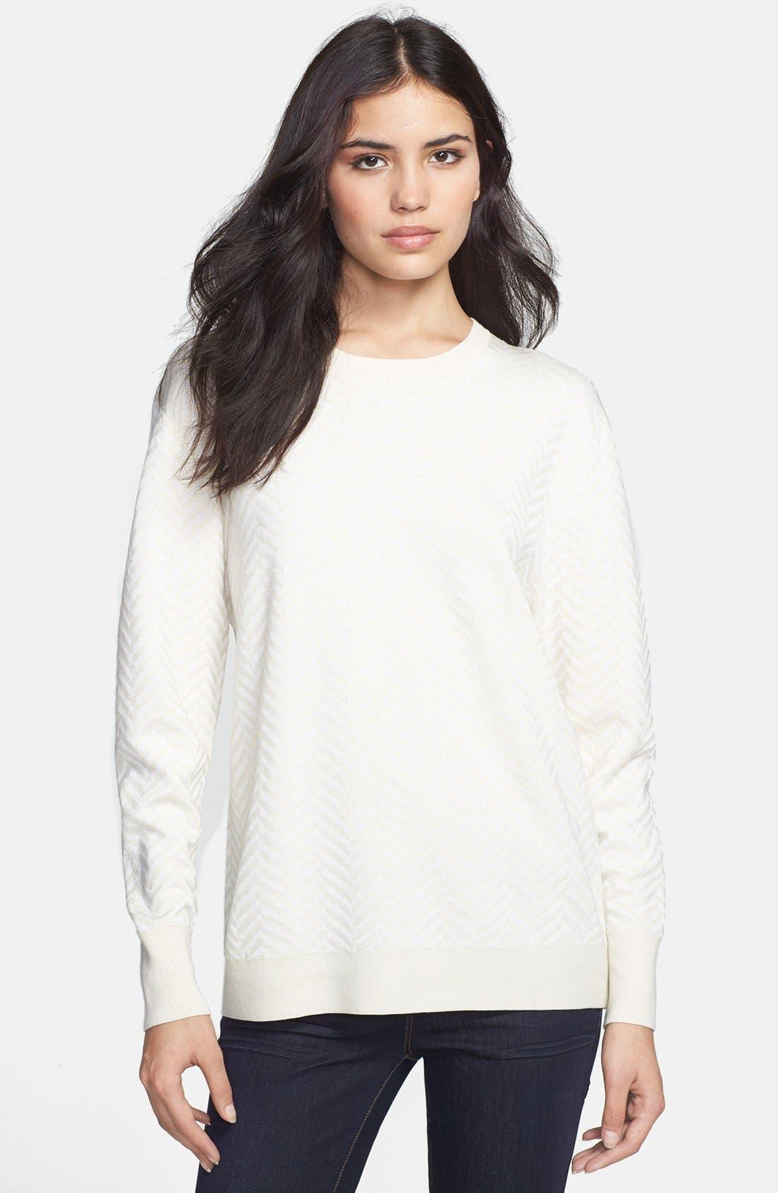 Main Image - Theory 'Hannalor P.' Wool Blend Sweater