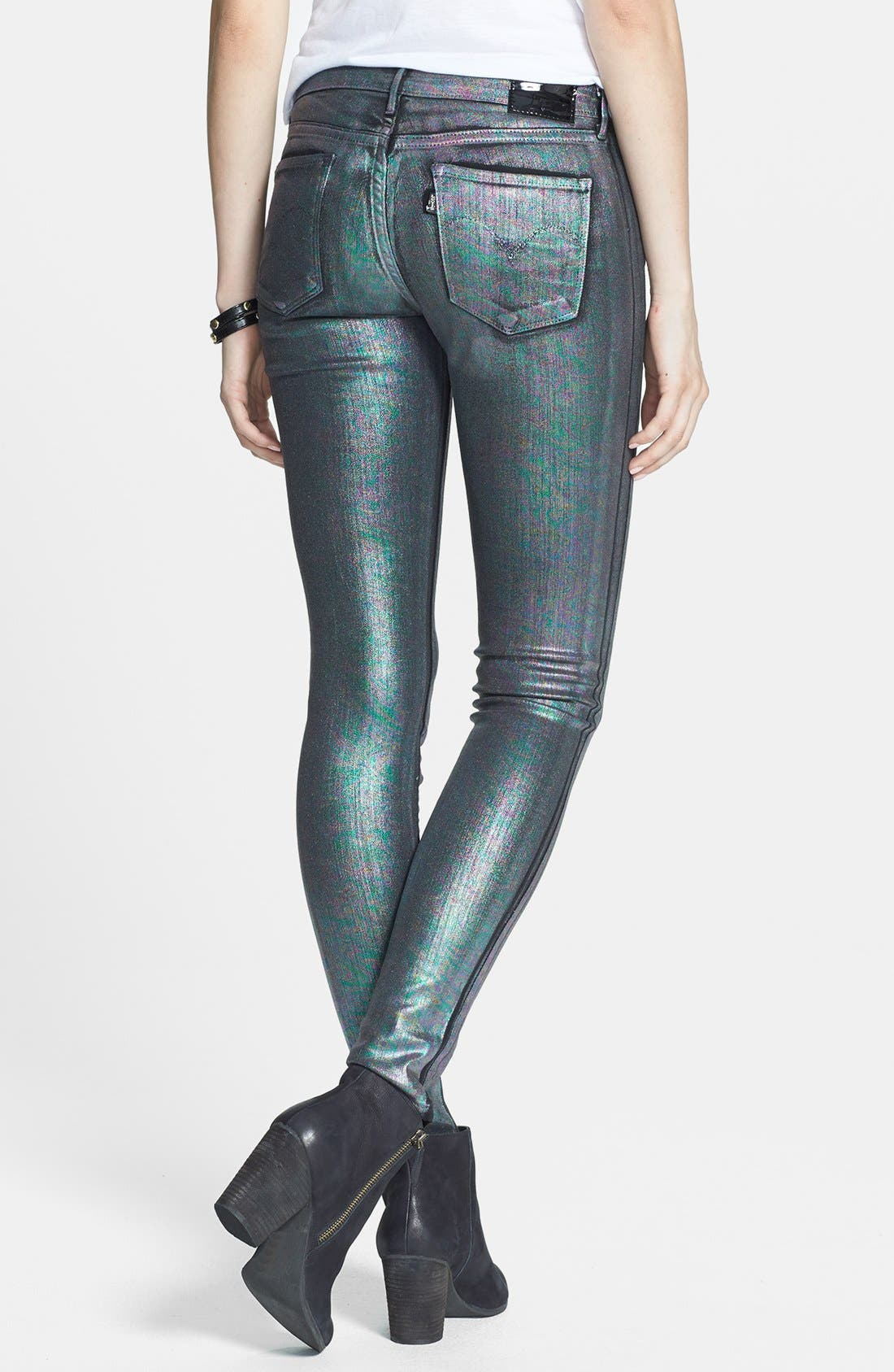 Alternate Image 2  - Levi's® 'Core Better Legging' Coated Skinny Jeans (Petrol)